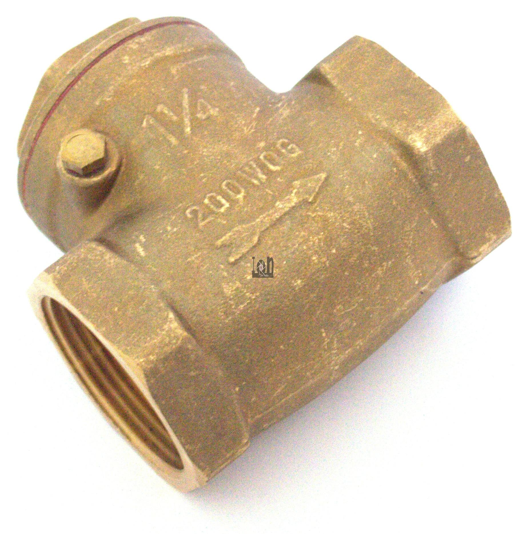 1-1/4NPT Brass Check Valve Female NPT 200WOG