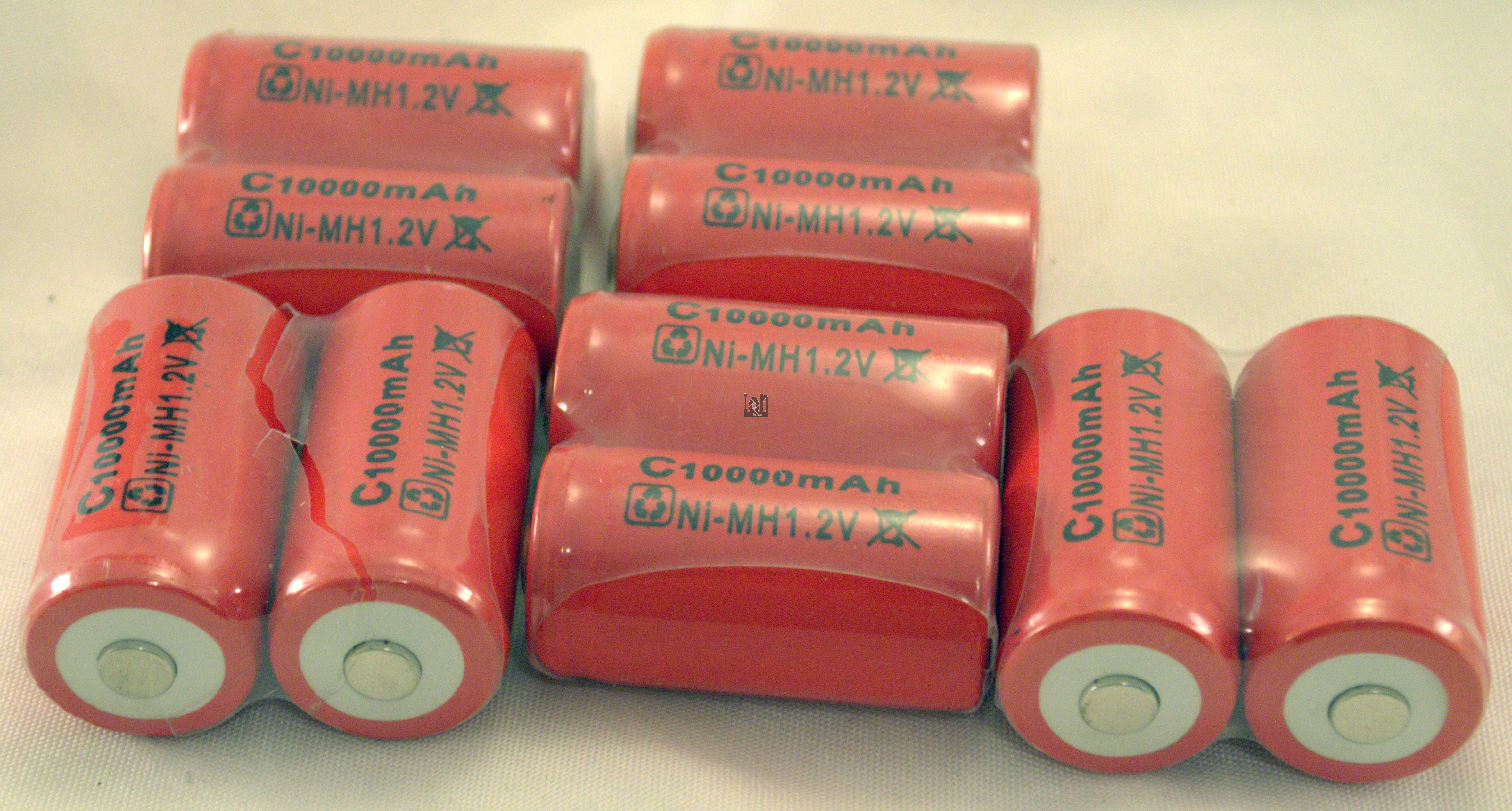 10 C Size Rechargeable Batteries 10000mAh Ni-Mh