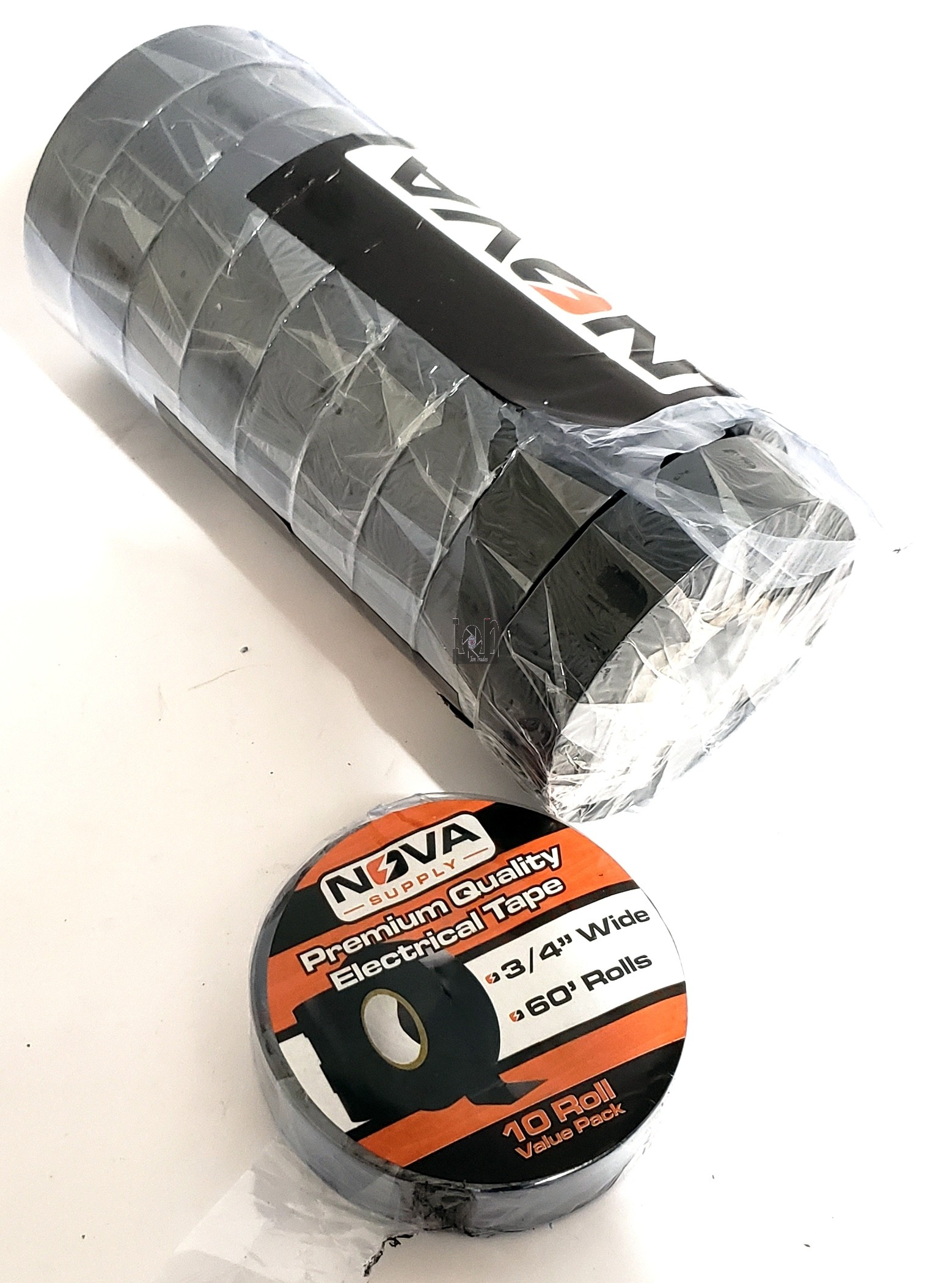 "10pk Nova Supply 3/4"" Wide 60' Electrical Tape Rolls Professional PVC Vinyl"