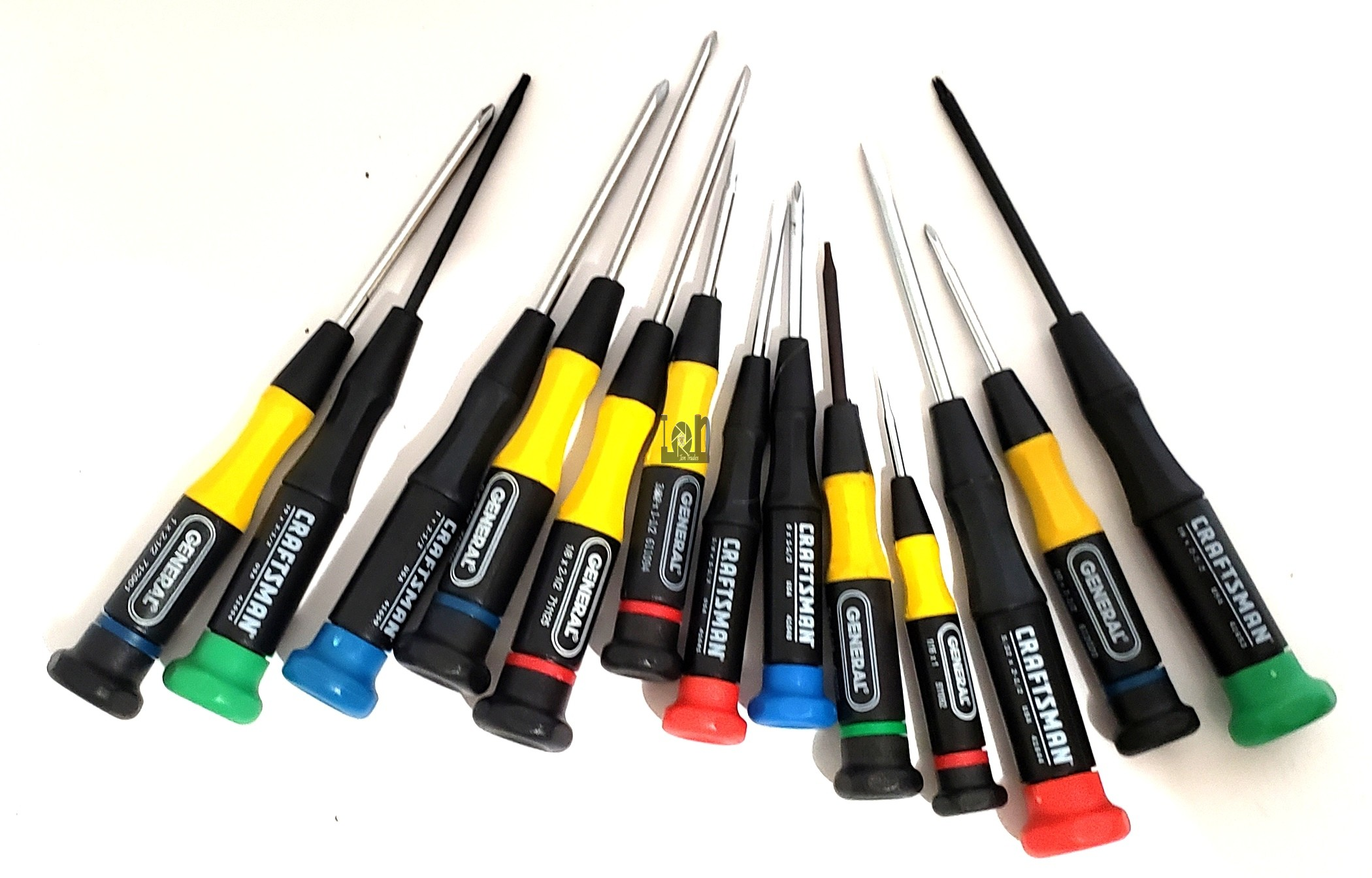 13pc Used Set of Precision Screwdrivers USA Made Craftsman General