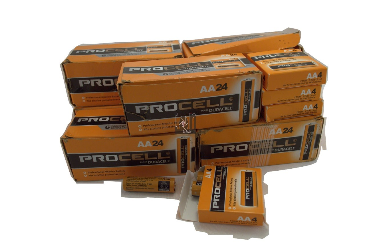 184pc Lot Duracell Procell AA Batteries Mar 2021