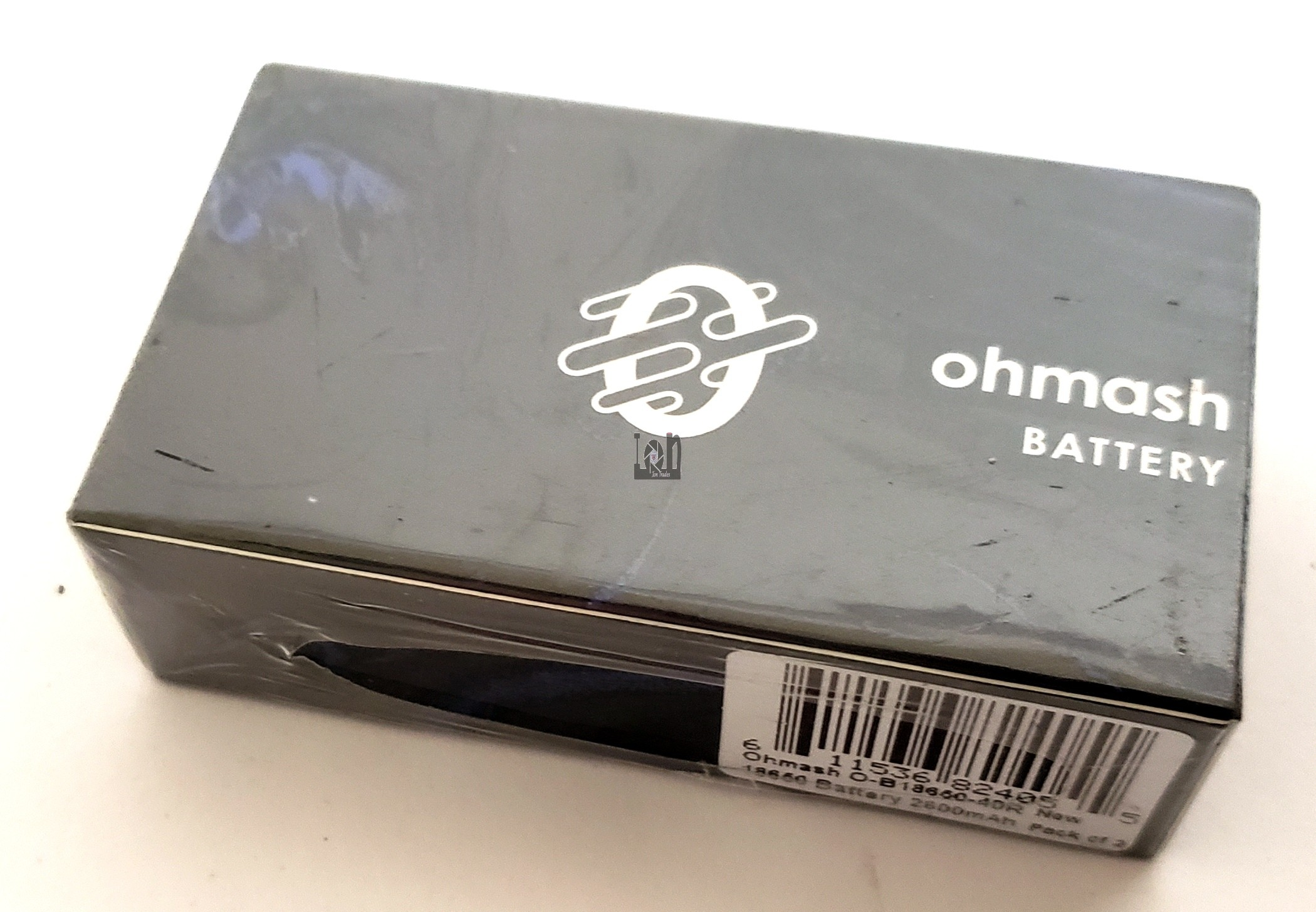 2-Pack Ohmash 18650 Battery RED 2600mAh