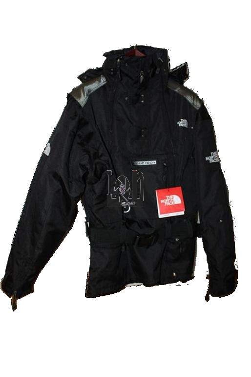 The North Face Mens Jacket MEDIUM Steep Tech Agency Black w/ Straps