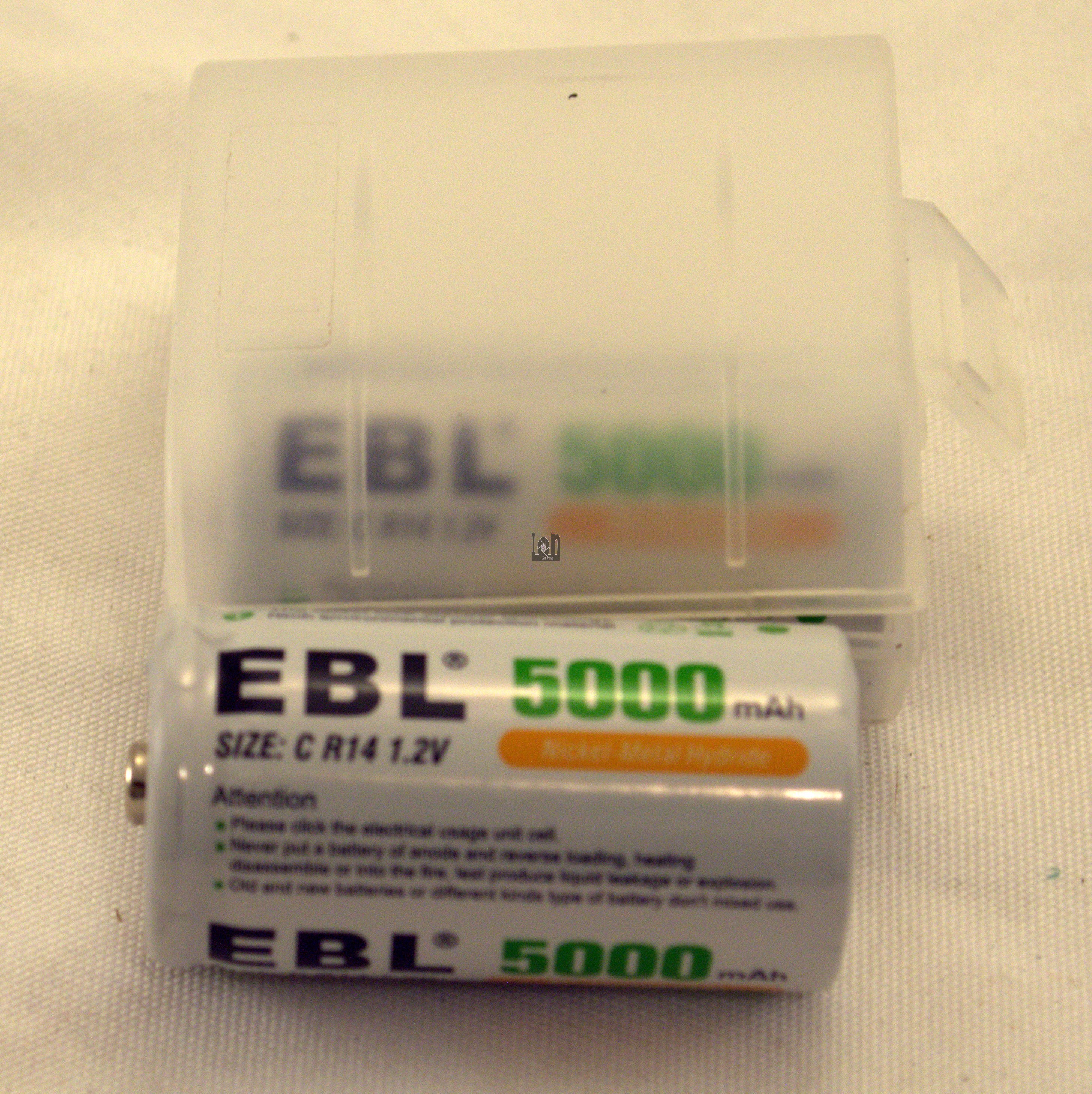 2 Pack EBL 5000mAh Rechargeable C Battery C R14 1.2V