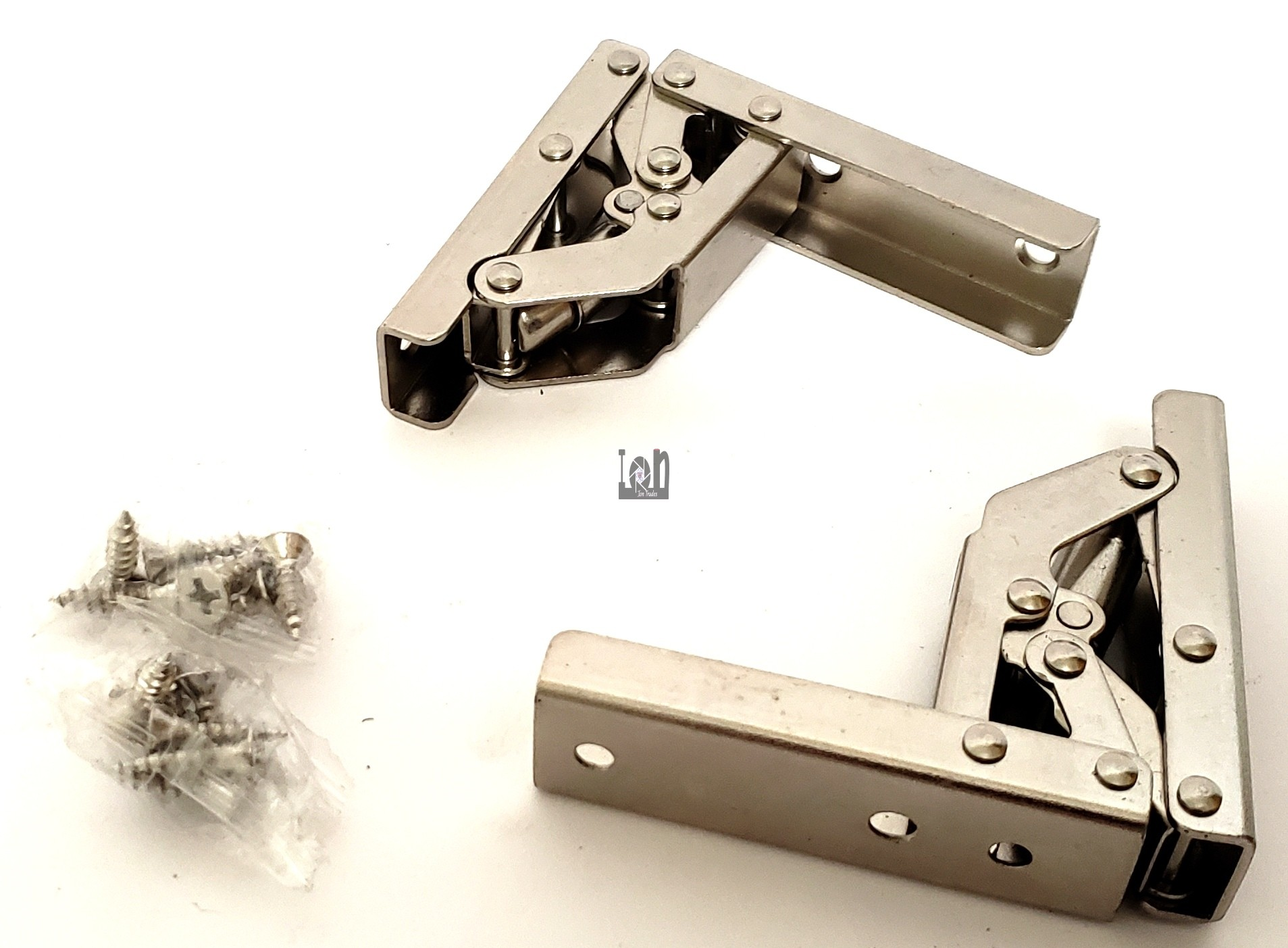 2pc 90 Degree Folding Shelf  Bracket Hinge Support 20mm x 160mm open