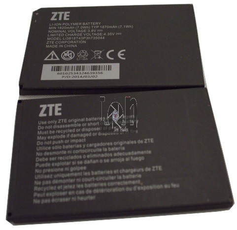 2pc Used ZTE Batteries Li3818T43P3h735044 1820mAh Concord 2