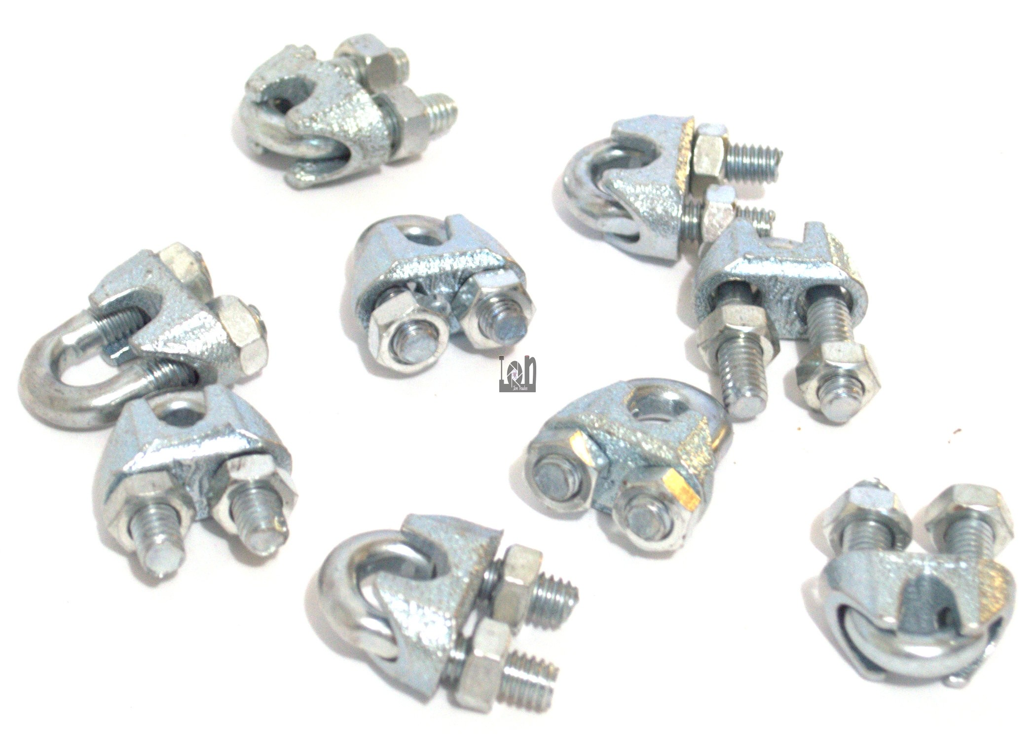"""36pc Lot 1/4"""" SS Clable Clamps Wire Rope Clamps U bolt"""
