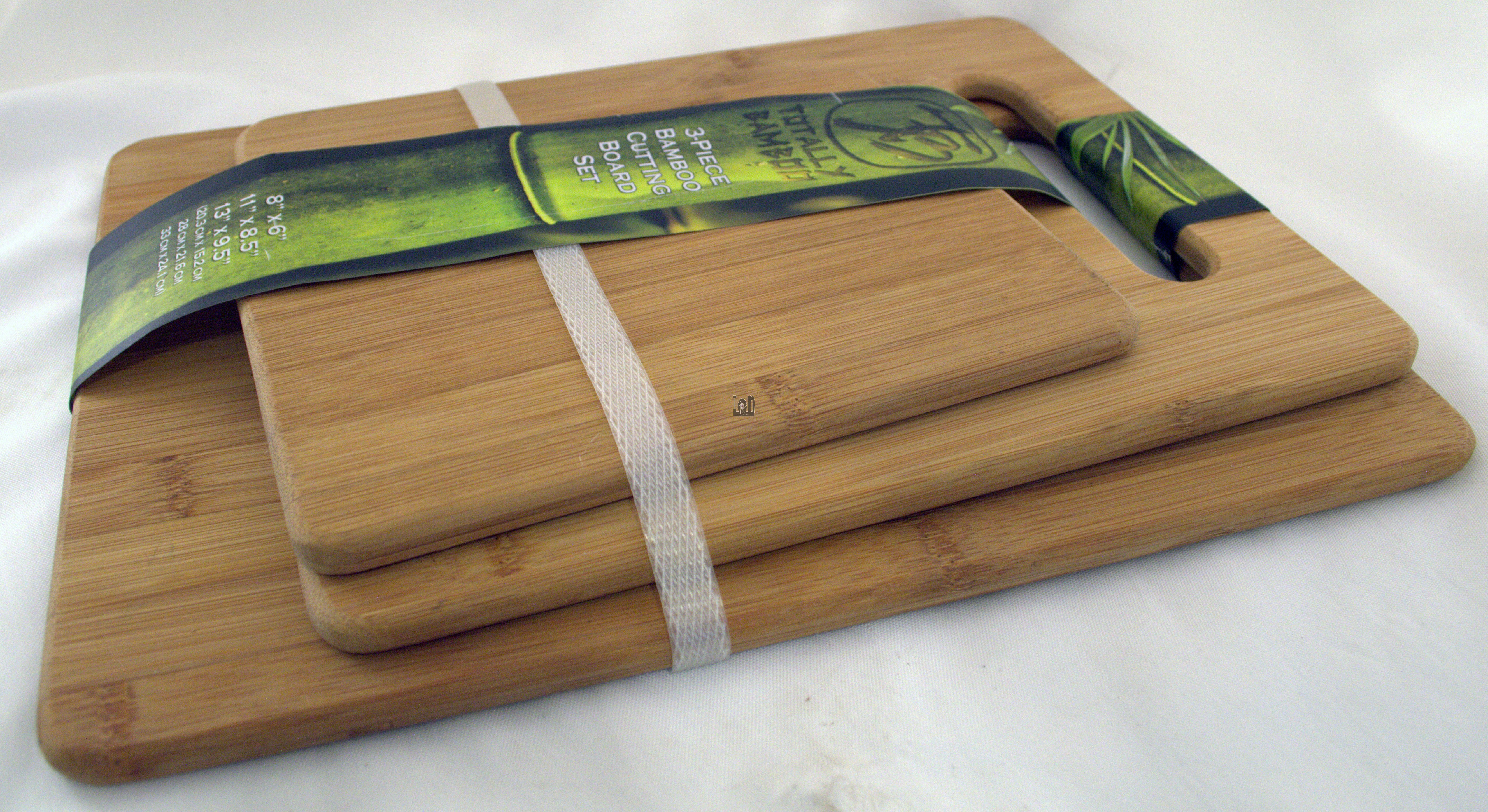 3pc Totally Bamboo Cutting Board Set 20-7930, 3 Sizes New