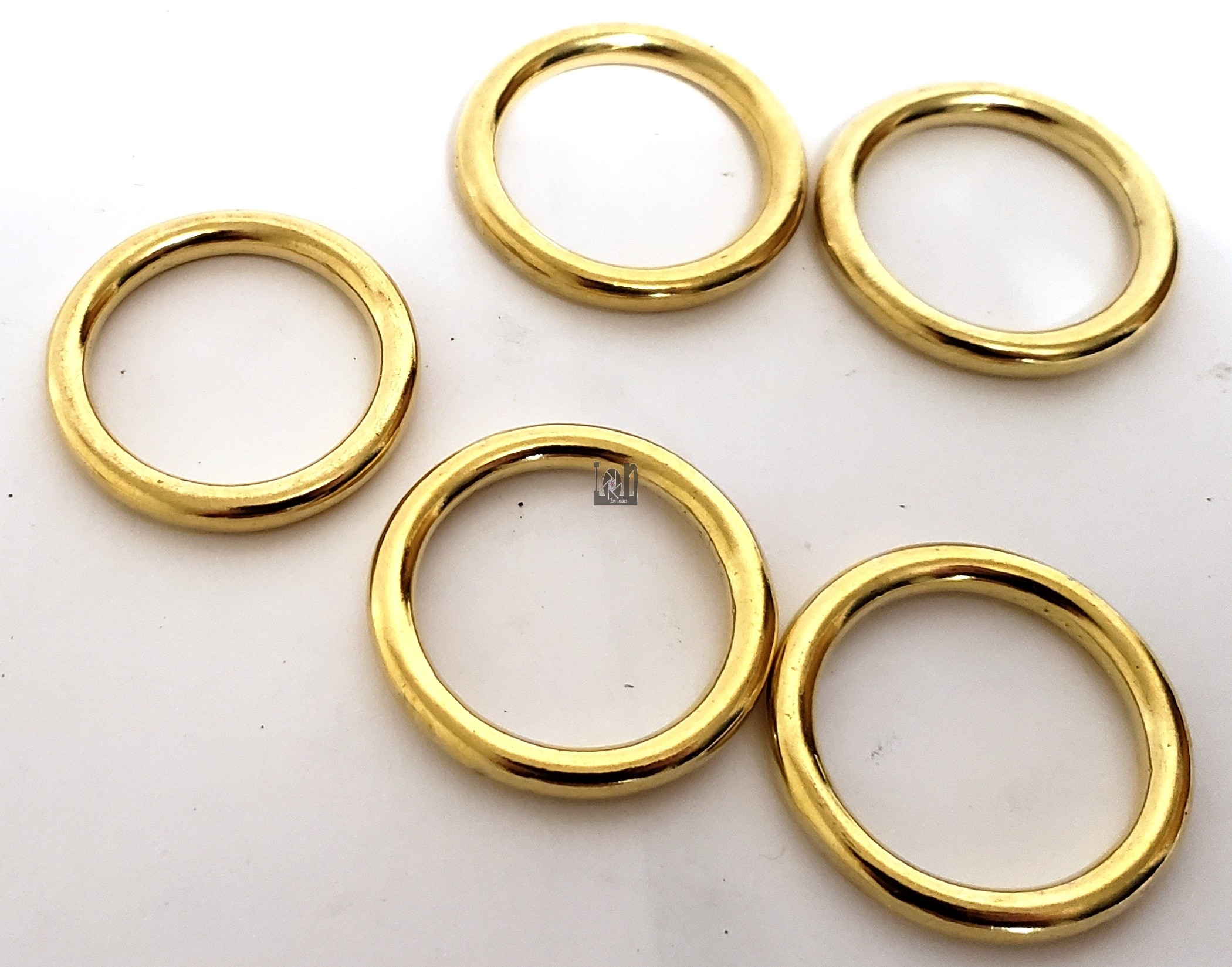 "40mm 1-5/8"" Brass Ring Solid Leathercraft Craft Buckle Bag"