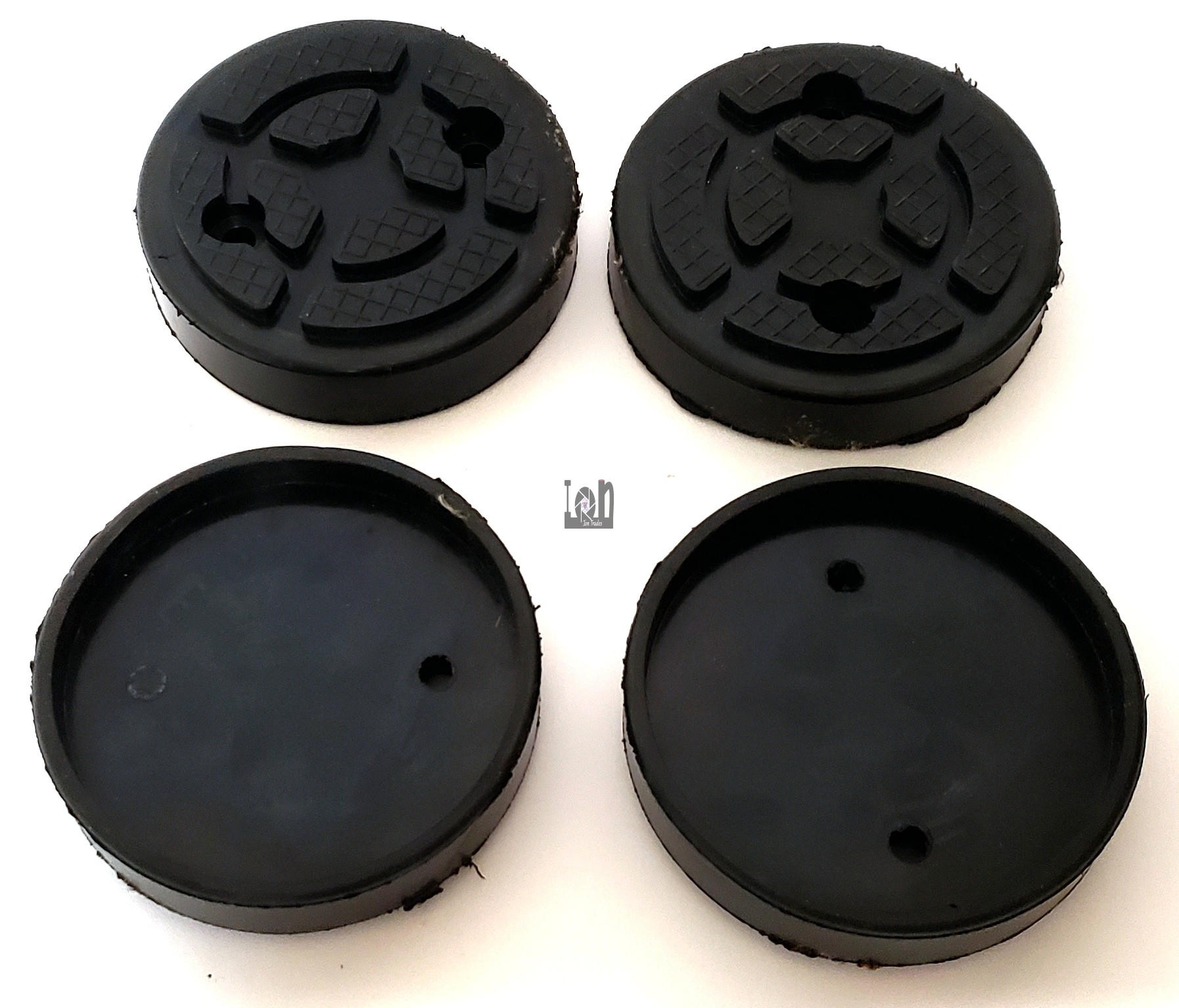 "4pc Lot Large Round Rubber Feet 4.25"" ID x 4.75"" OD Machine Mounted Foot"