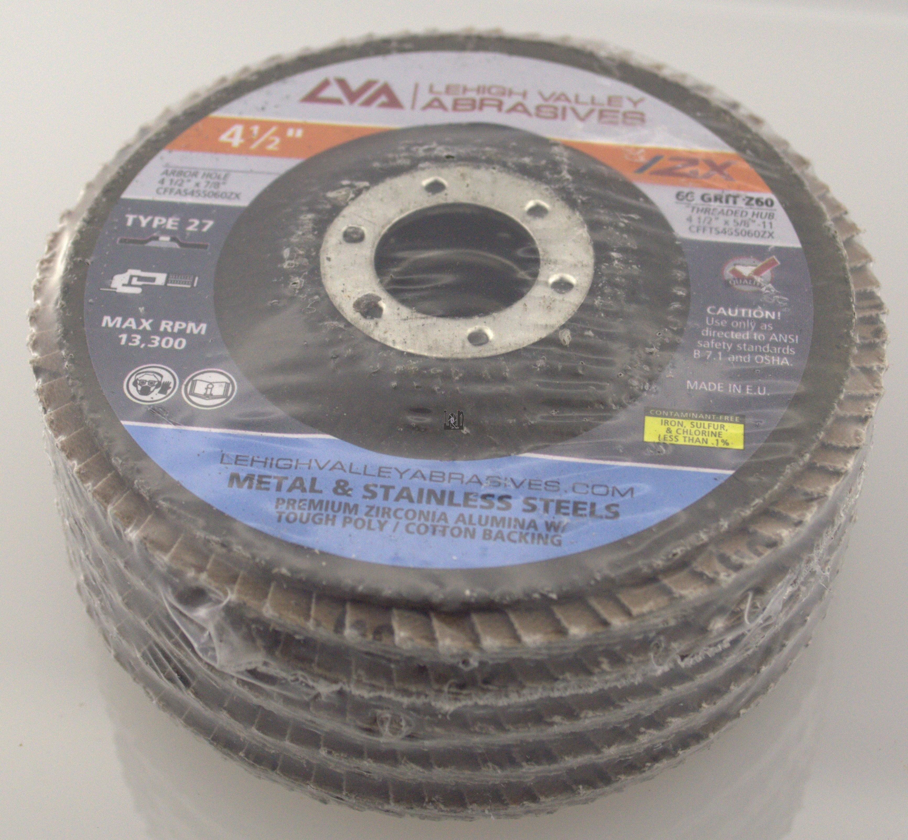"5pc 60-Grit Flap Disc 60 4-1/2"" Sanding 7/8"" Arbor Grinding Wheels"