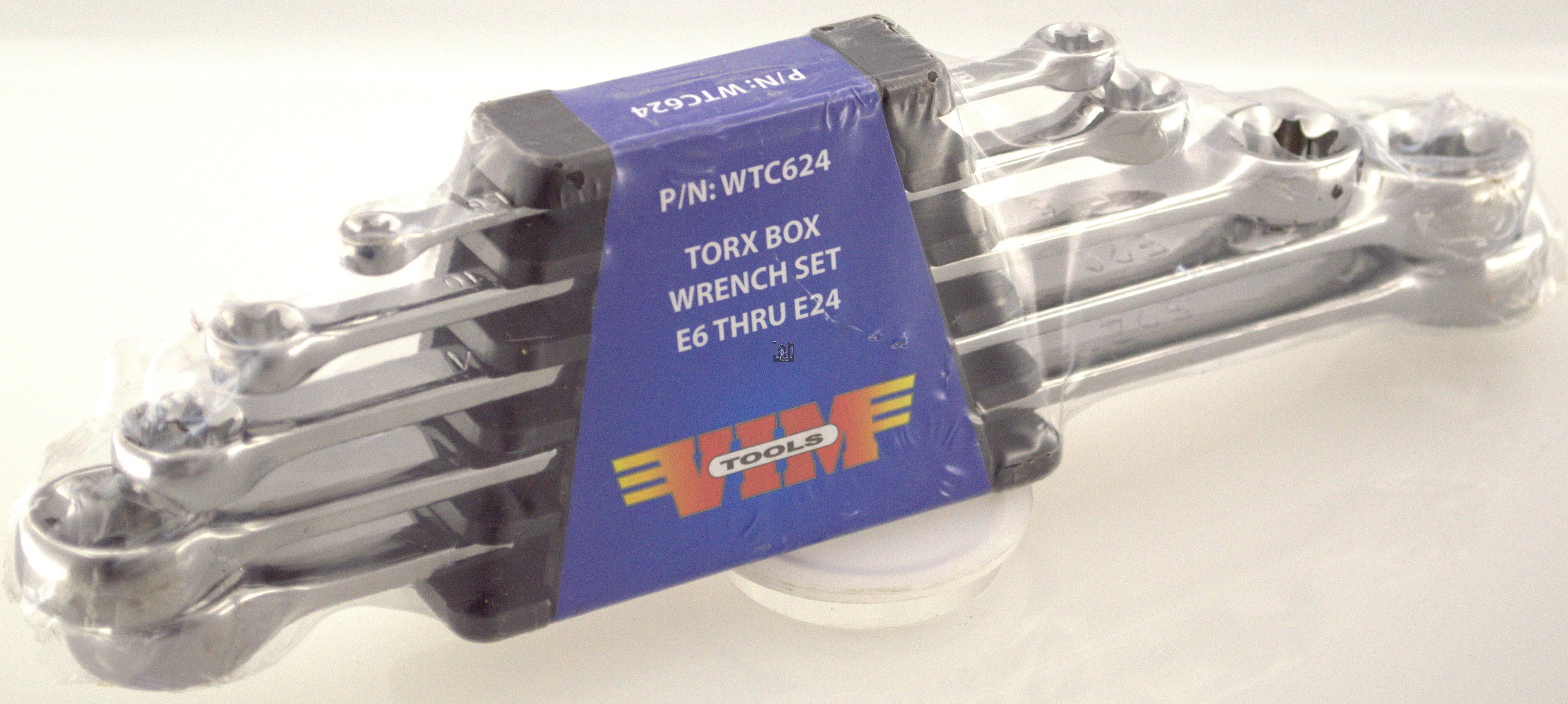 5pc Torx Wrench Set Box  End VIM Tools WTC624