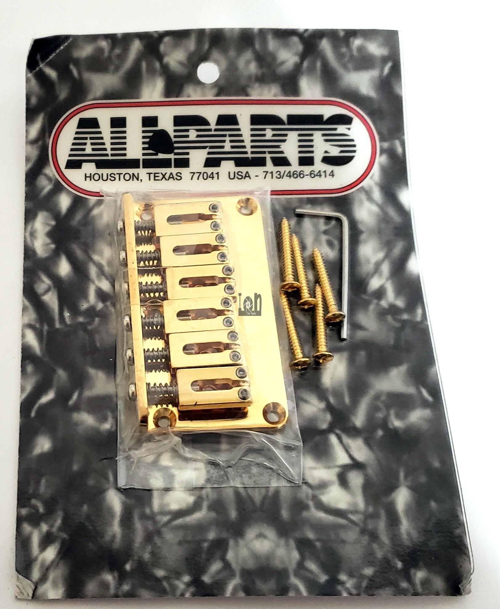 Allparts Guitar Bridge SB-5115-002 Gotoh Non-Tremolo Bridge Gold
