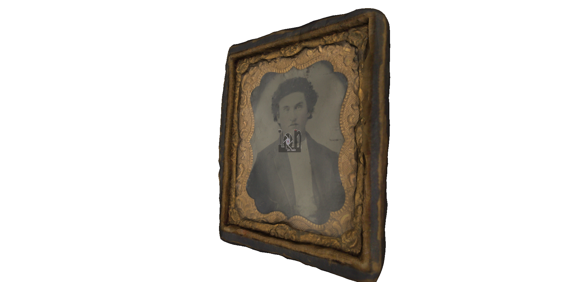 Ambrotype Photograph Antique Picture Frame 3D Model from 3D Scan
