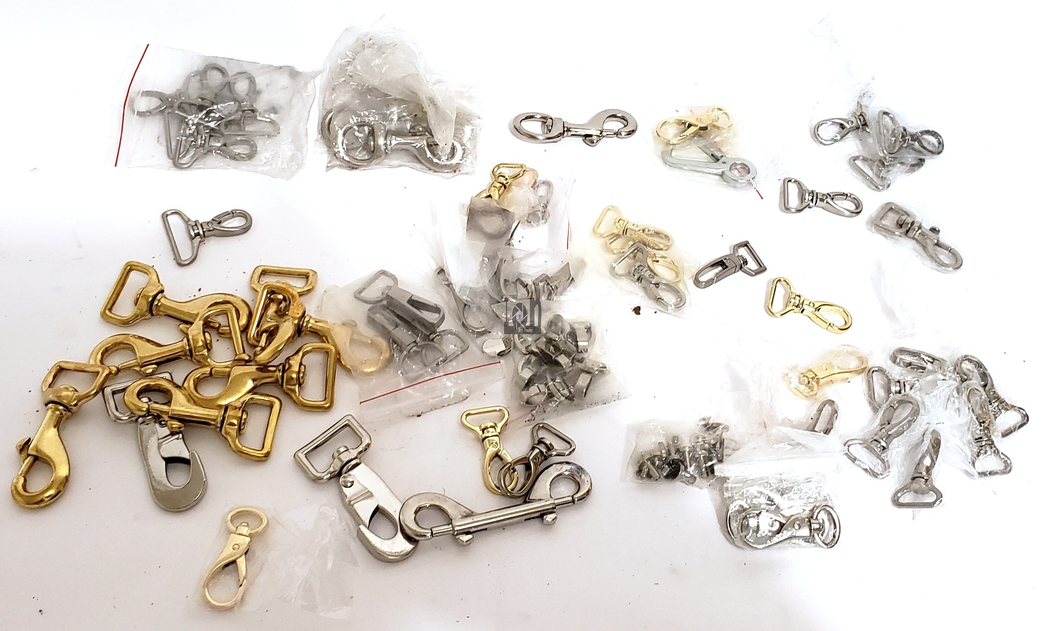 "aprx 50pc Lot Swivel Snap Hooks 3/4"" Nickel Stainless Chrome Brass Craft Strap Belt"