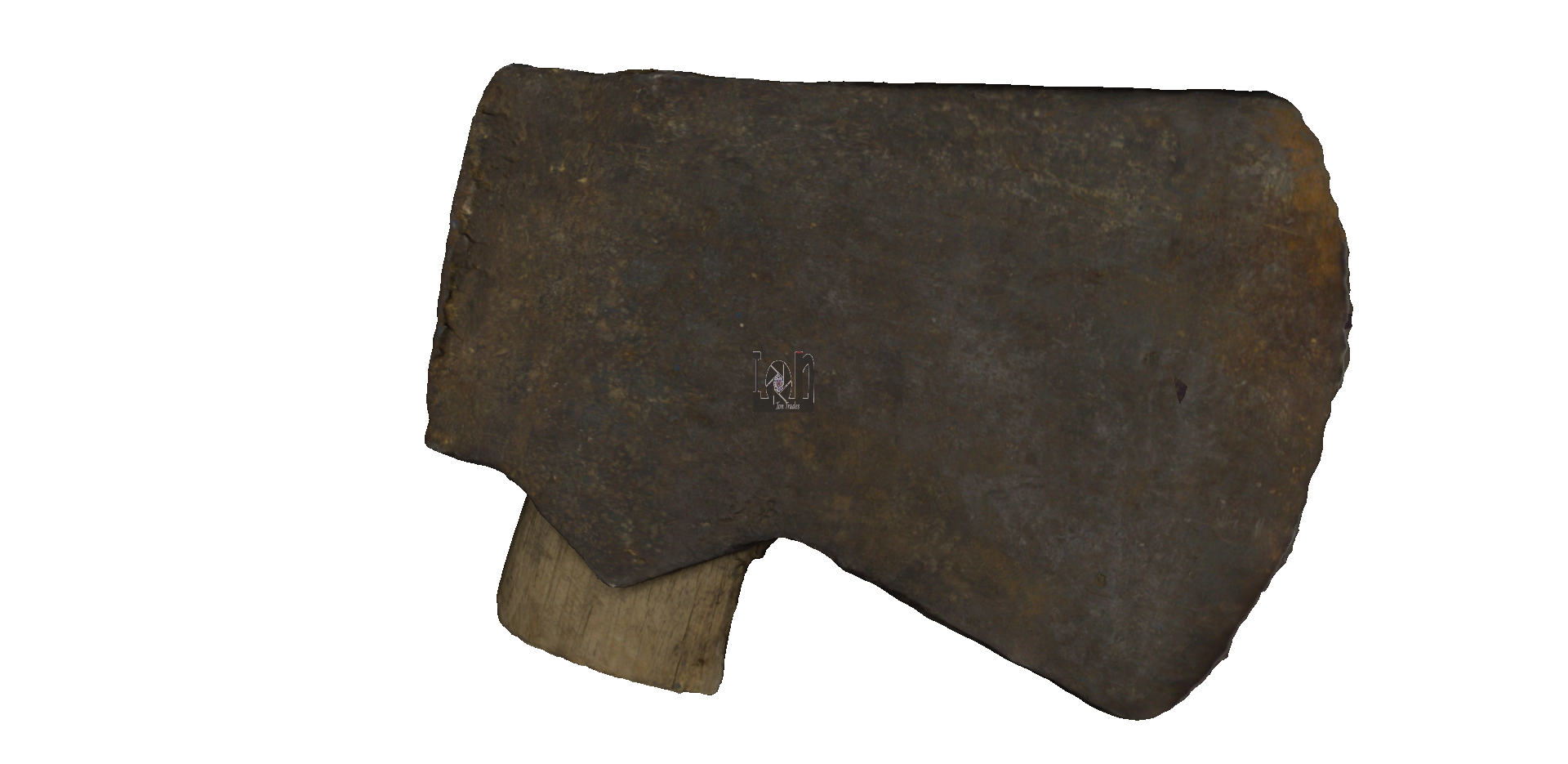 Vintage Single Bit Axe Head 3D Model from 3D Scan
