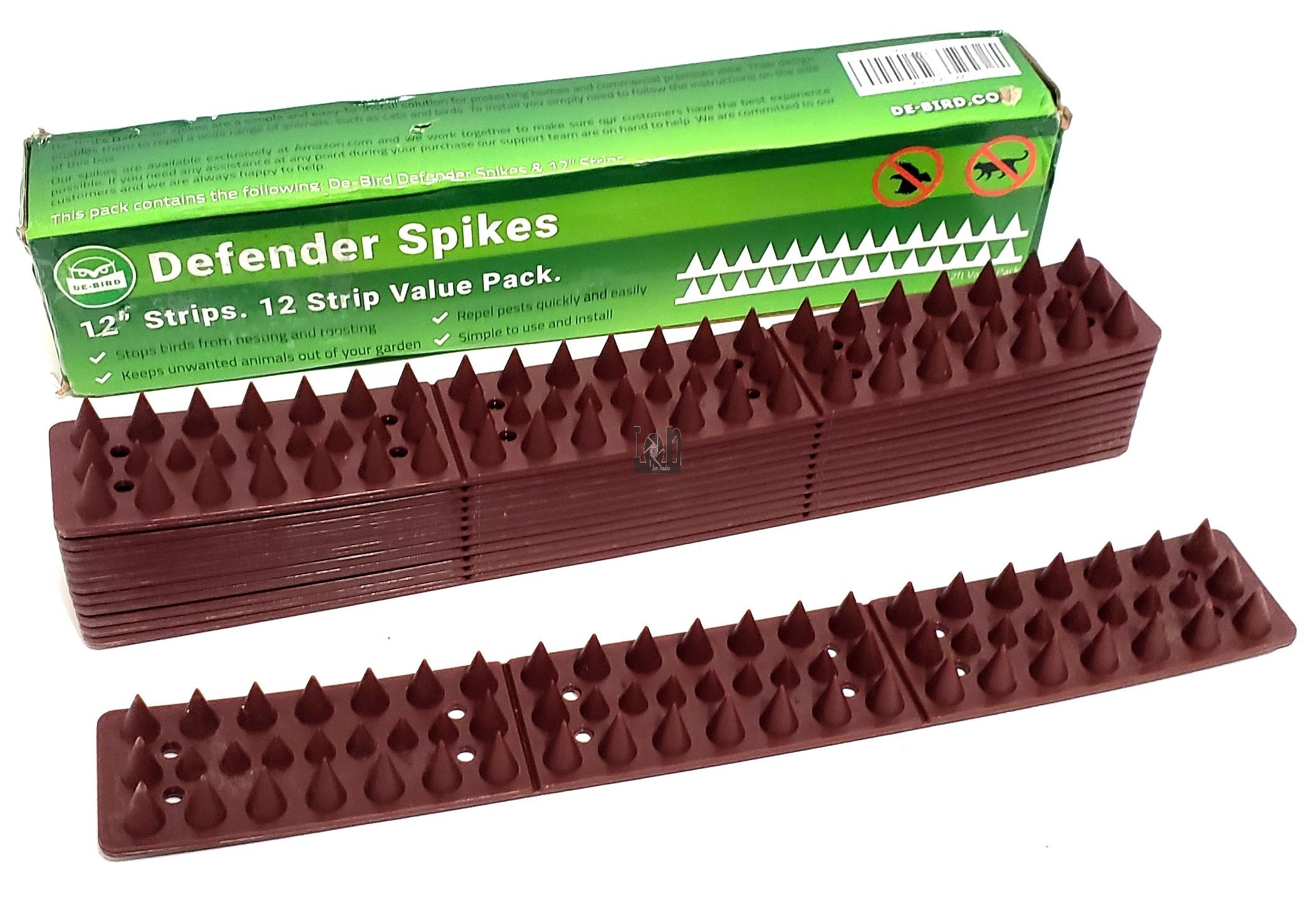 "Bird Spikes 12"" 12pk 12-feet Anti Bird Deterrent Repellent"