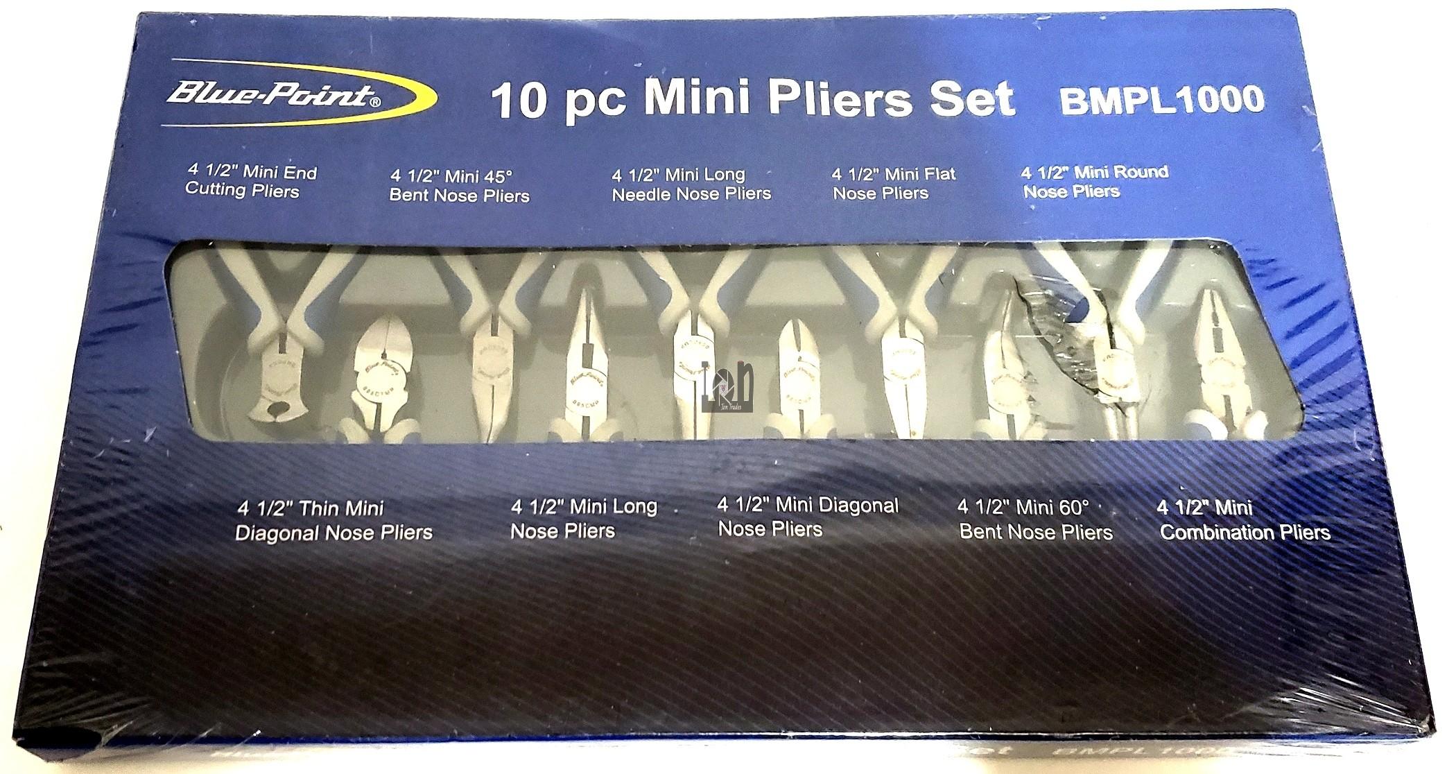 Blue-Point 10pc Mini Pliers & Cutters Set with Vinyl Grip BMPL1000