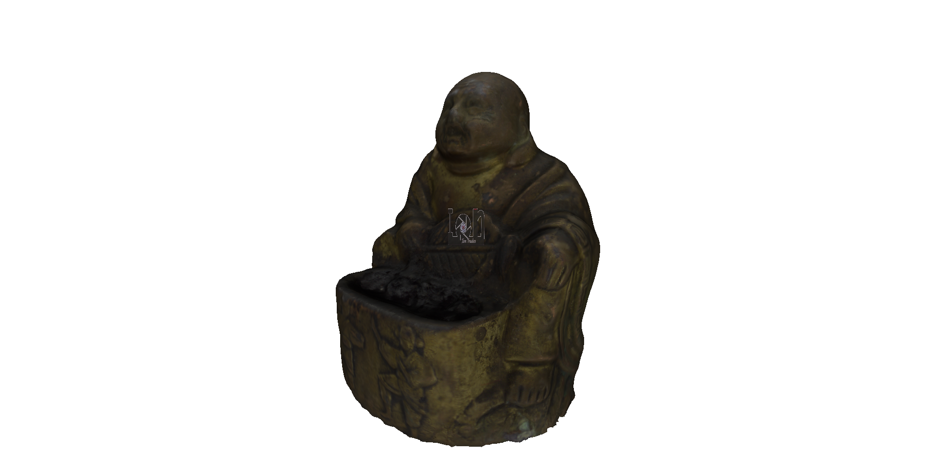 Steampunk Buddha Burner 3D scanned 3D model