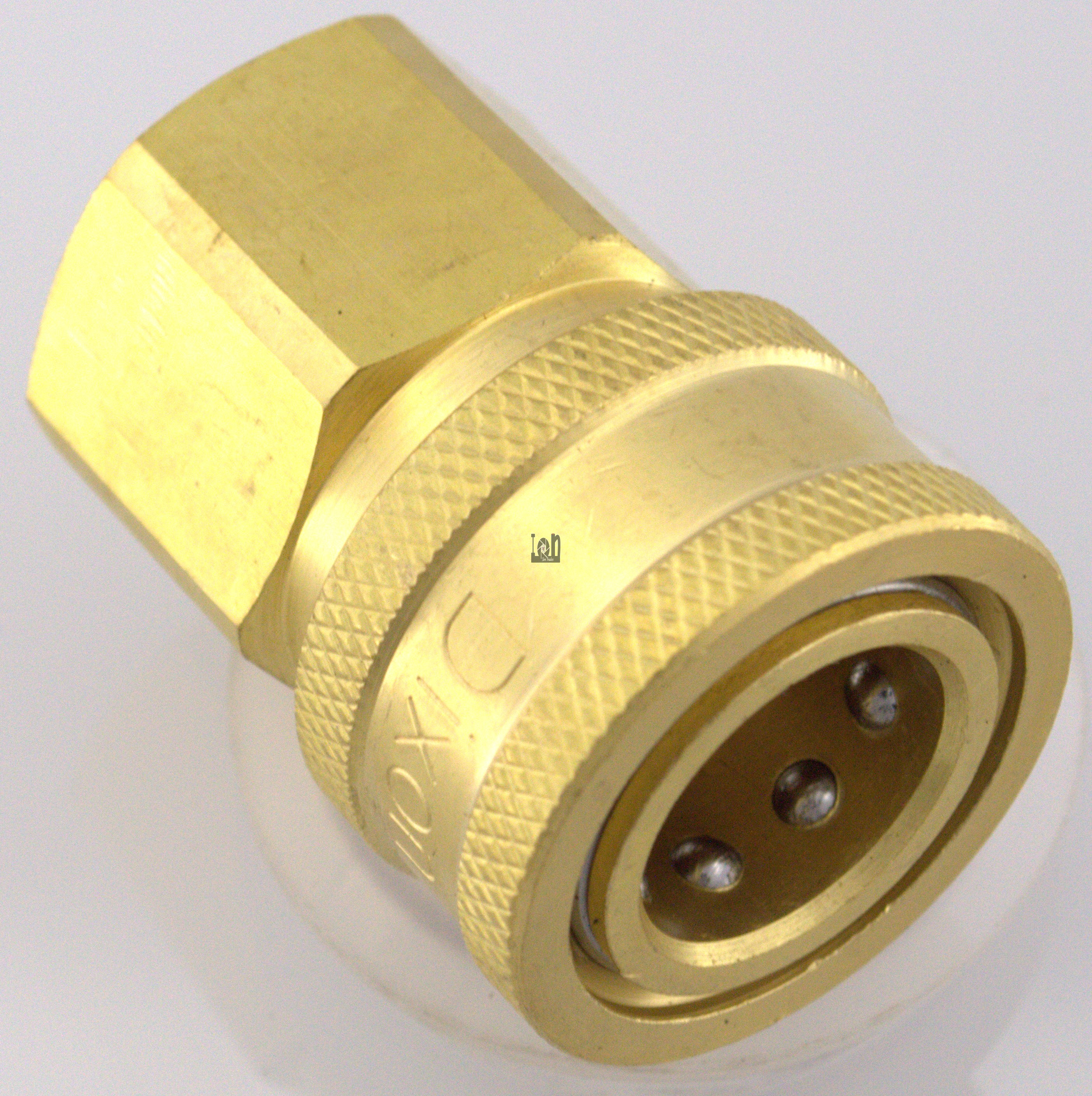 "Dixon 1/2"""" NPT Female Coupler Brass THROUGH Fitting Pressure Washer"