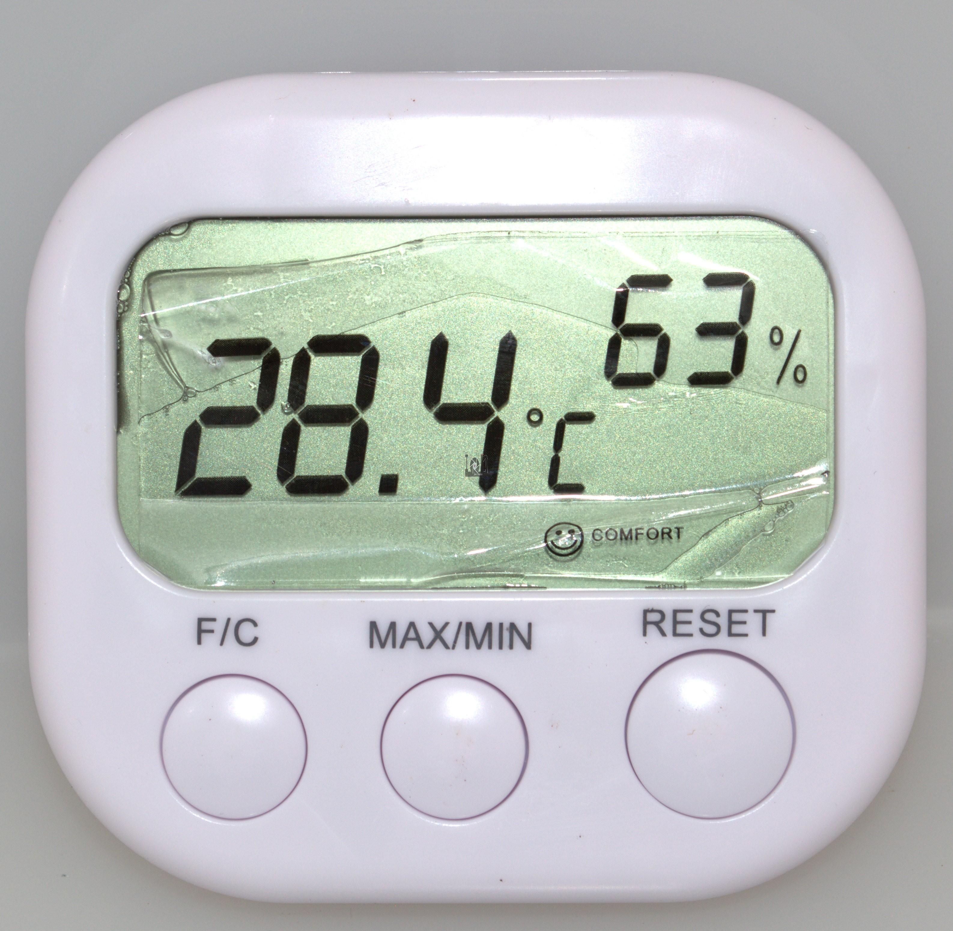 Digital LCD Thermometer Hygrometer Clock