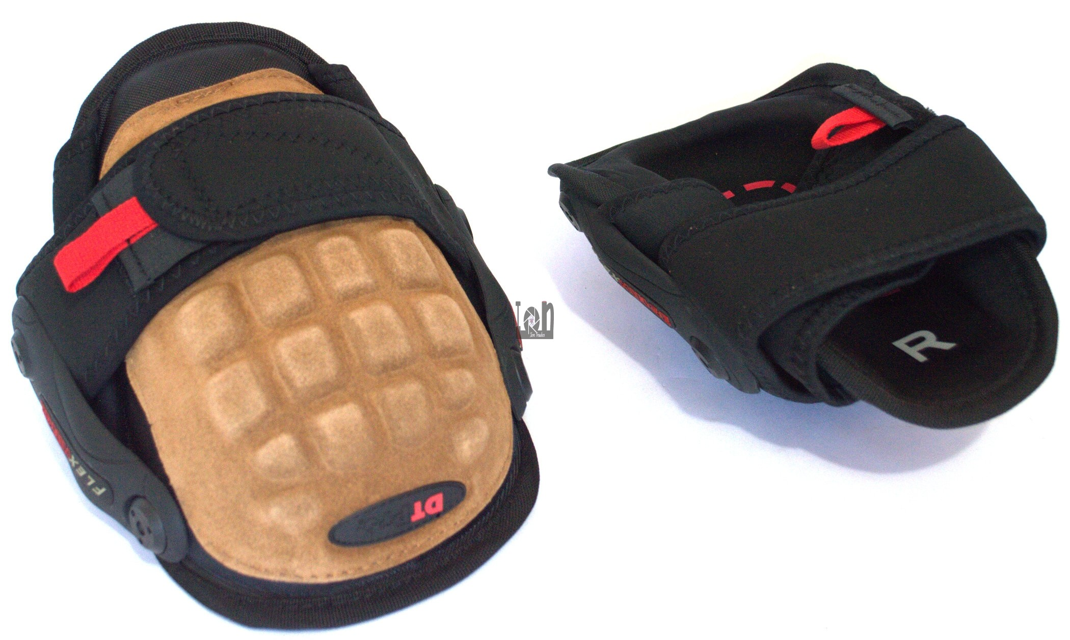 Duluth Trading Co Hinged Knee Pads 58030 Gel Leather Black