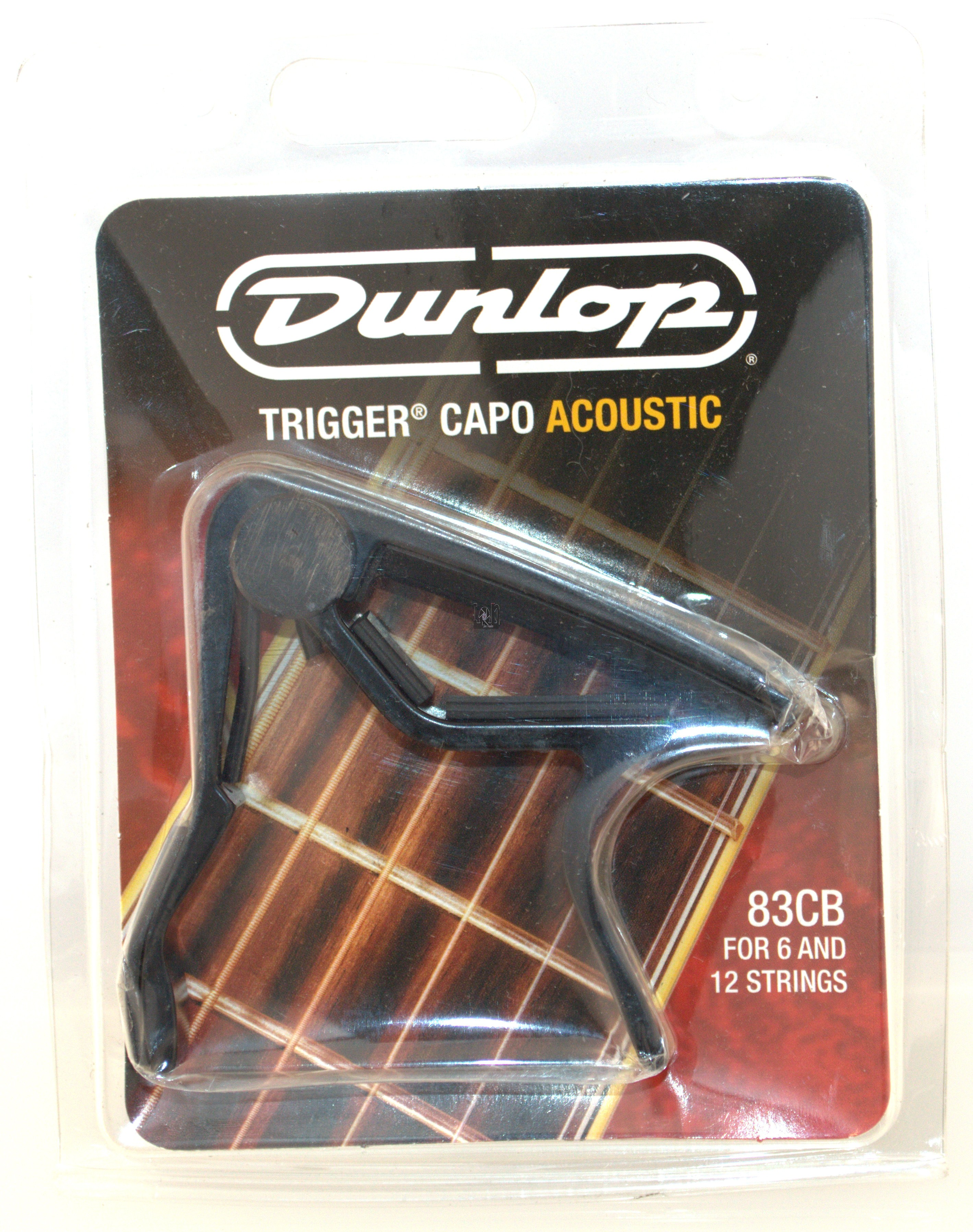 Dunlop Capo Trigger Acoustic Guitar Curved Clamp 83CB 6-12 String