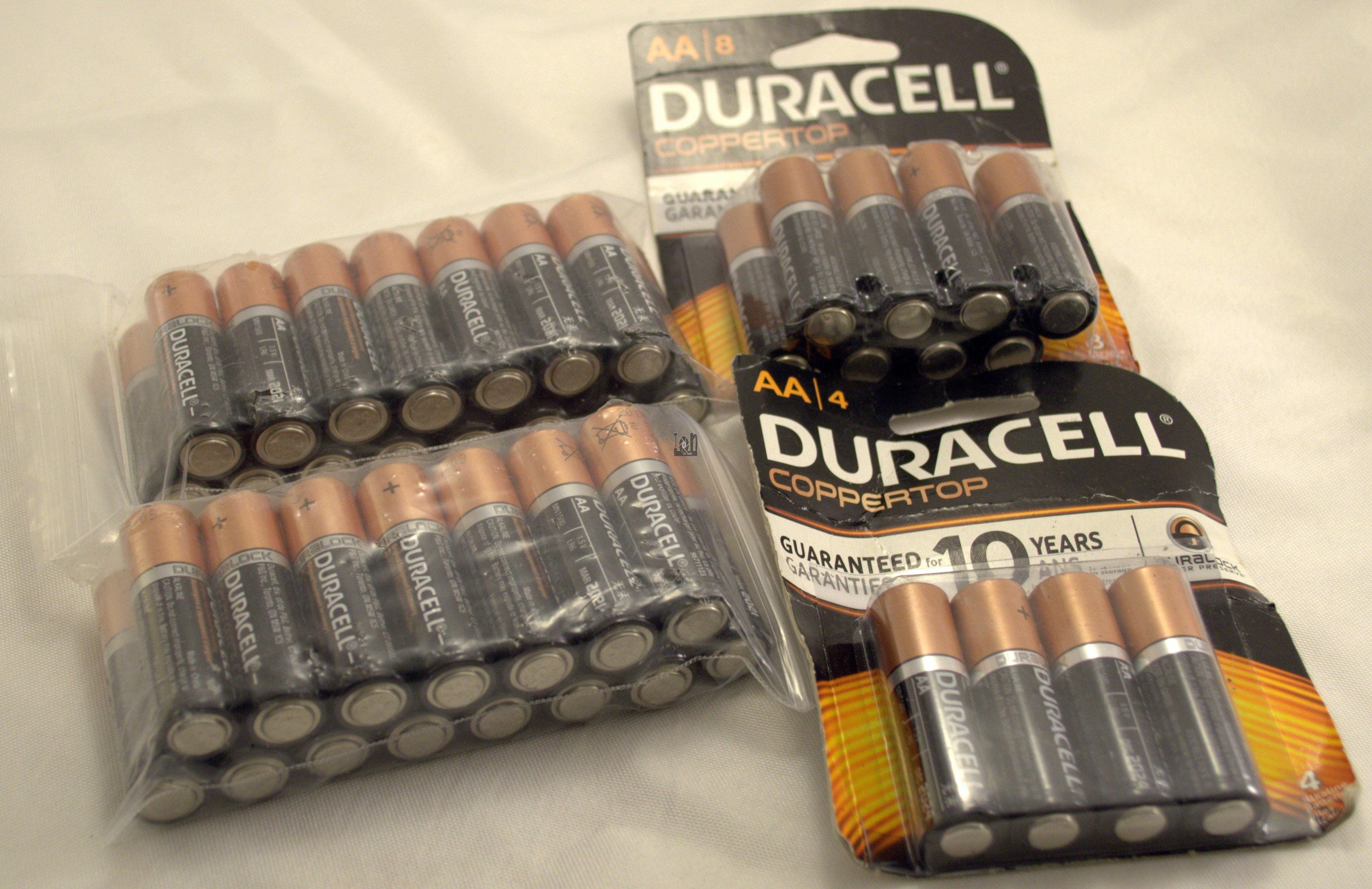 Duracell 42pc Lot AA Batteries AA Battery Coppertop Alkaline