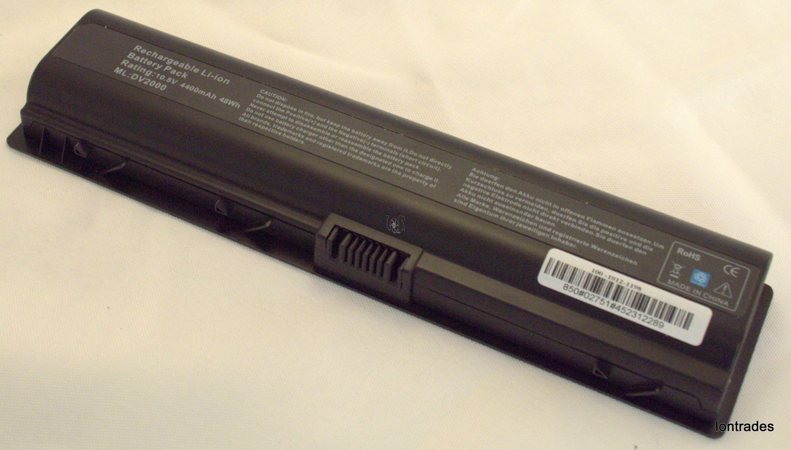 DV2000 4400mAh Battery Replacement HP Pavilion 462337-001