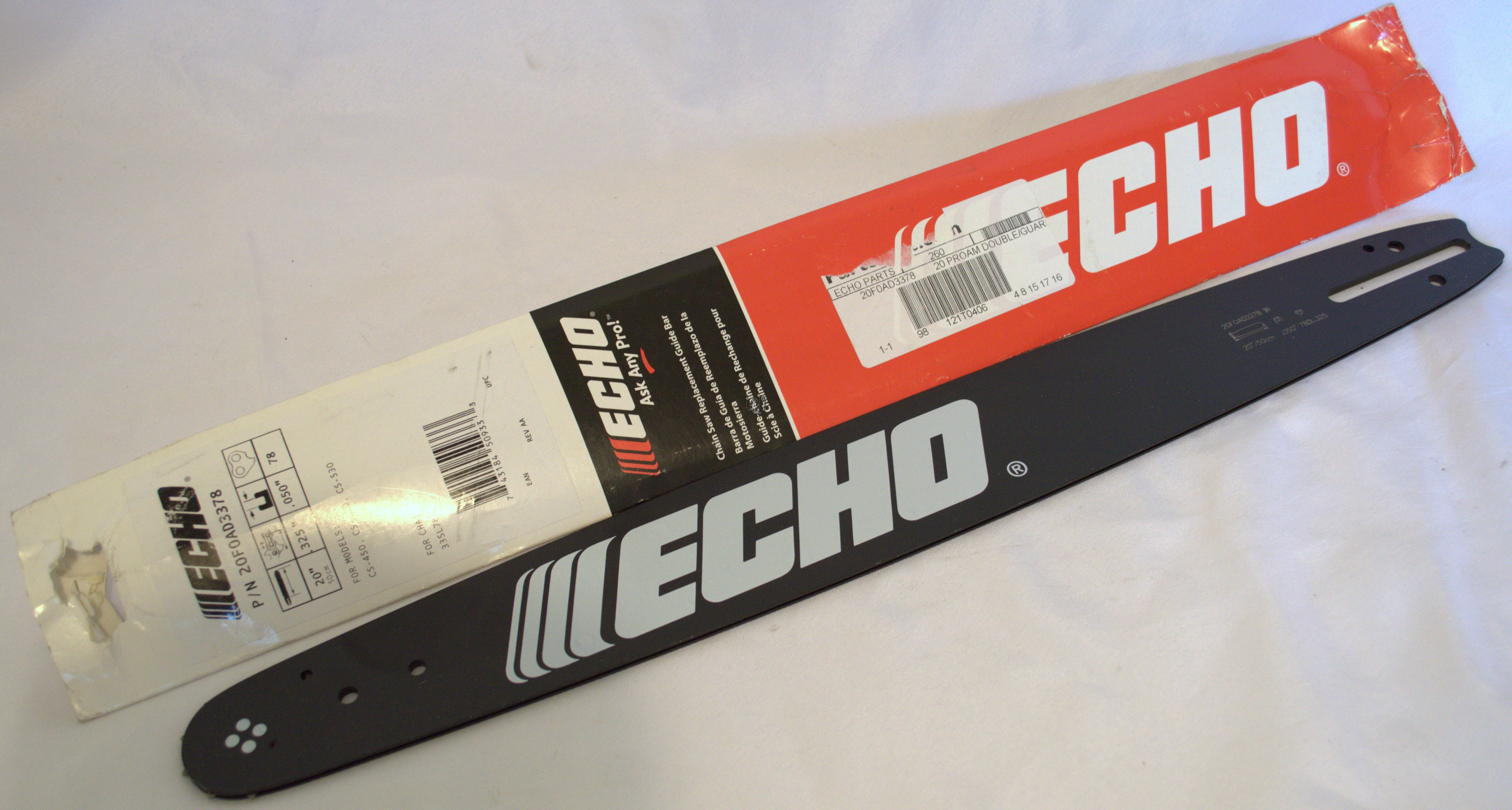 "Echo Chainsaw Guide Bar  20"" .325 .050 78DL 20F0AD3378"
