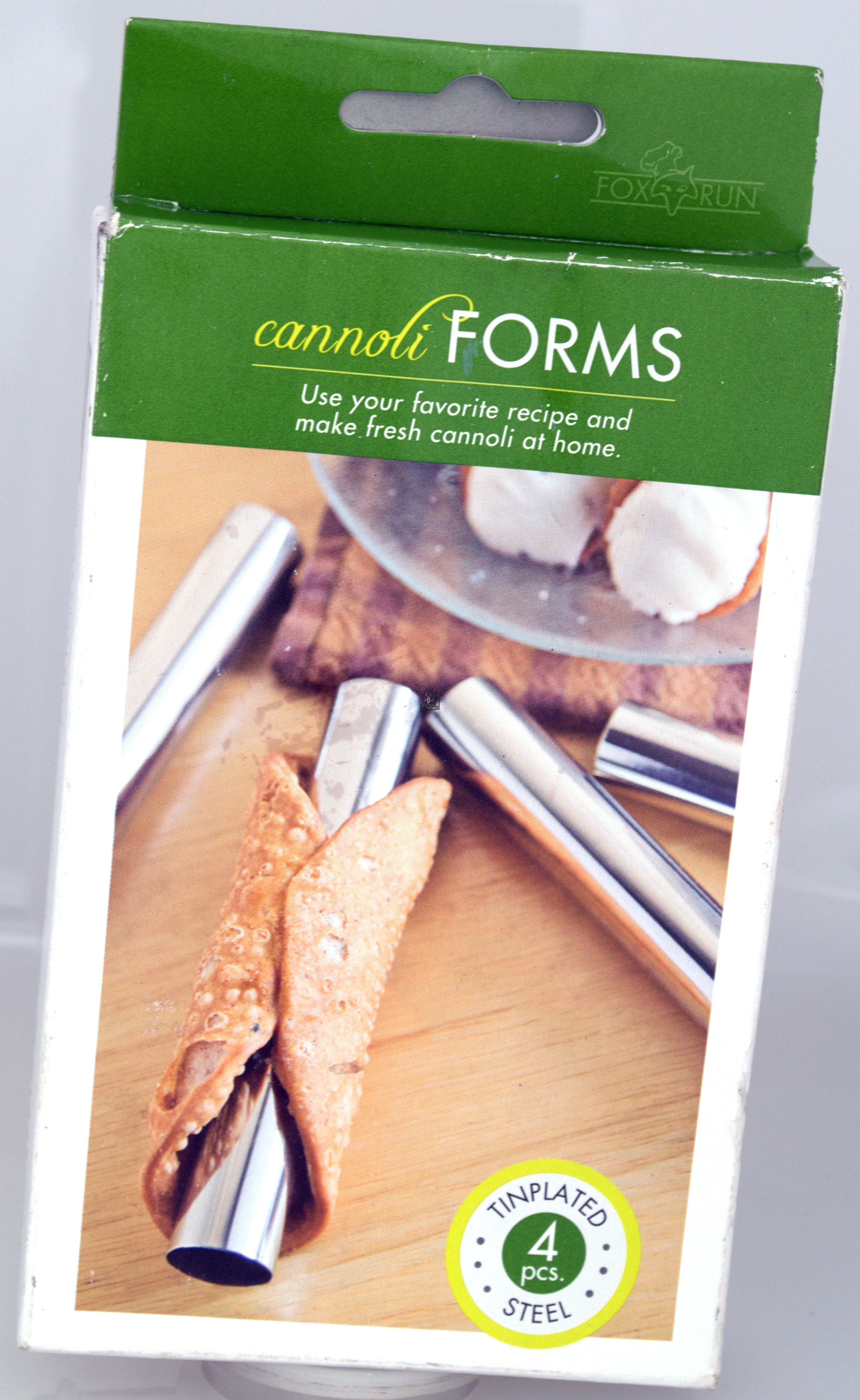 Fox Run Cannoli Forms 4pc Set 14.12cm x 2.22cm Steel