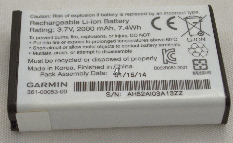 Garmin OEM Battery 361-00053-00 2000mAh Alpha 100 Montana 600