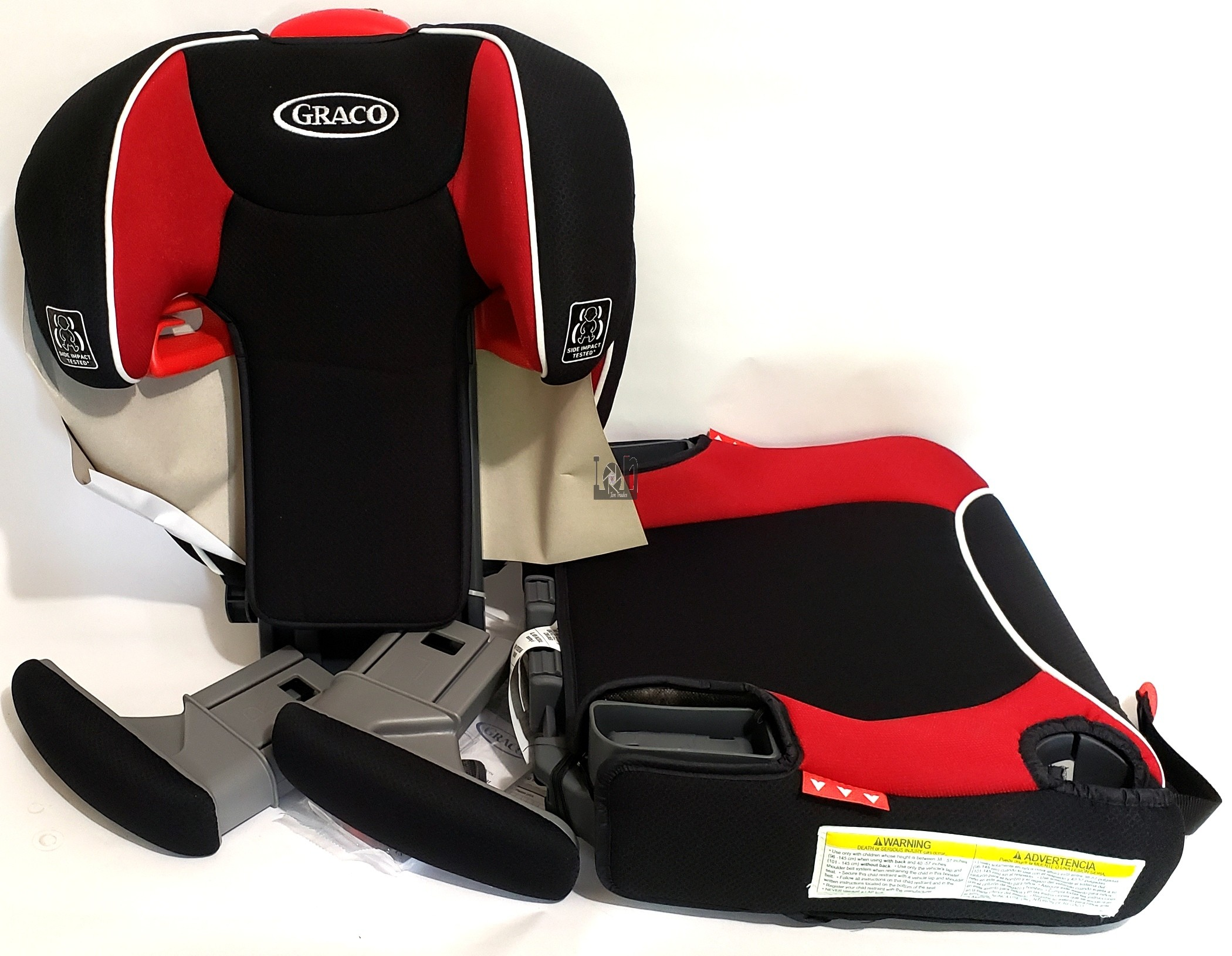 Graco Affix Youth Booster Seat with Latch System Atomic RED