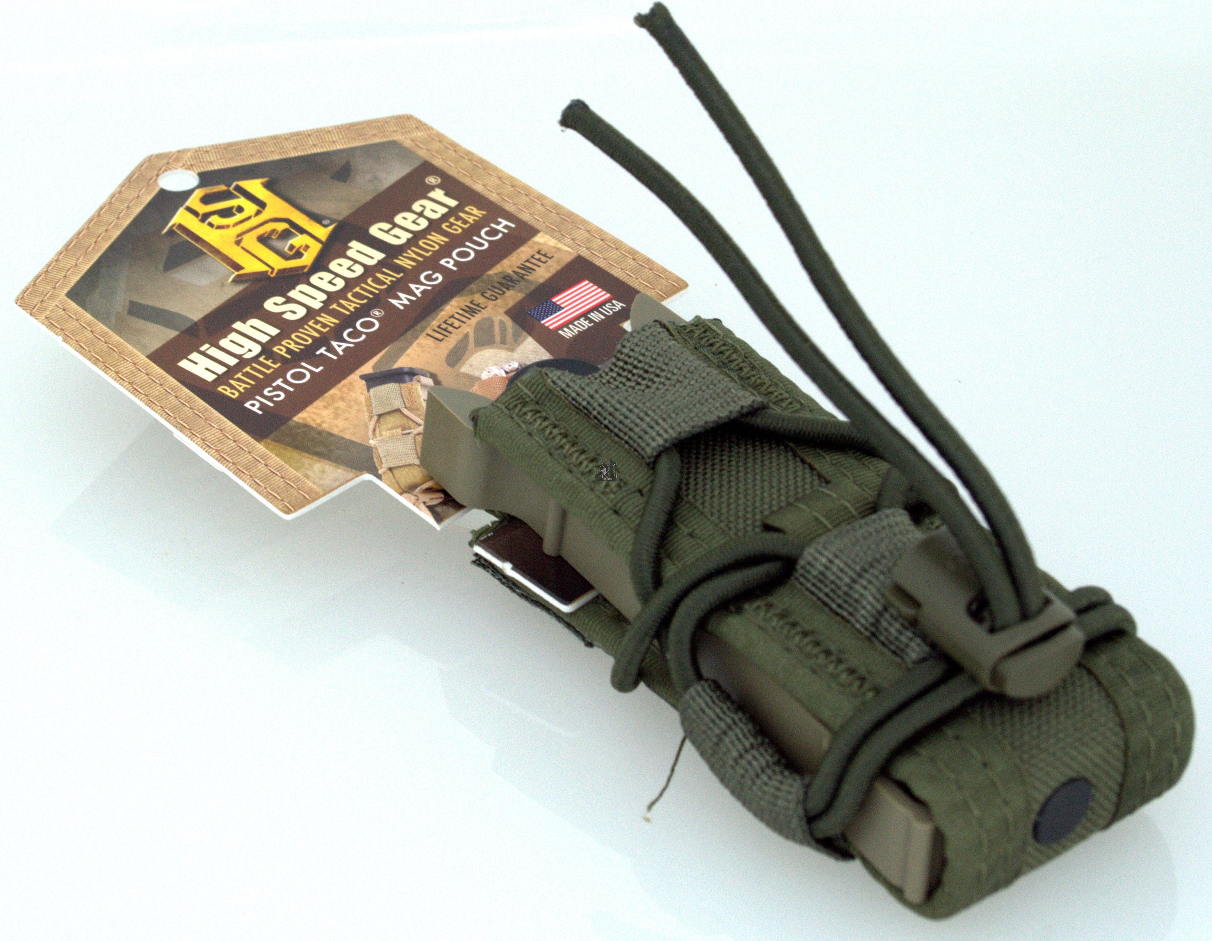 High Speed Gear Pistol TACO Mag Pouch Olive Drab OD
