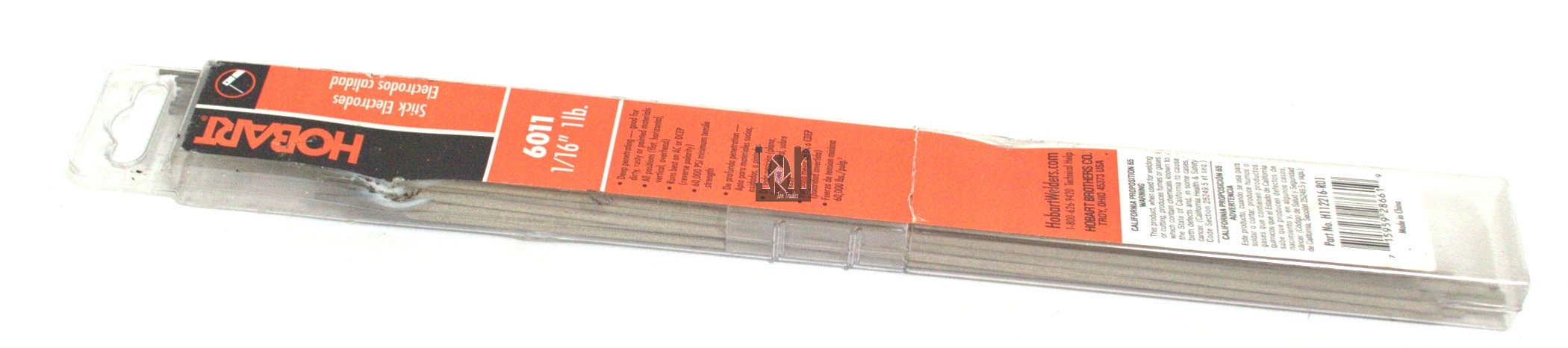 "Hobart 1lb Stick Electrodes 1/16"" 6011 Welking Supplies"