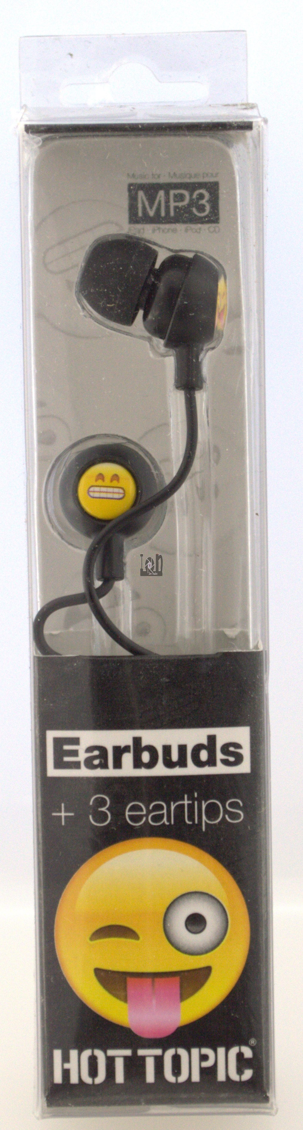 Hot Topic Earbuds Silly Emoji Smiley Face