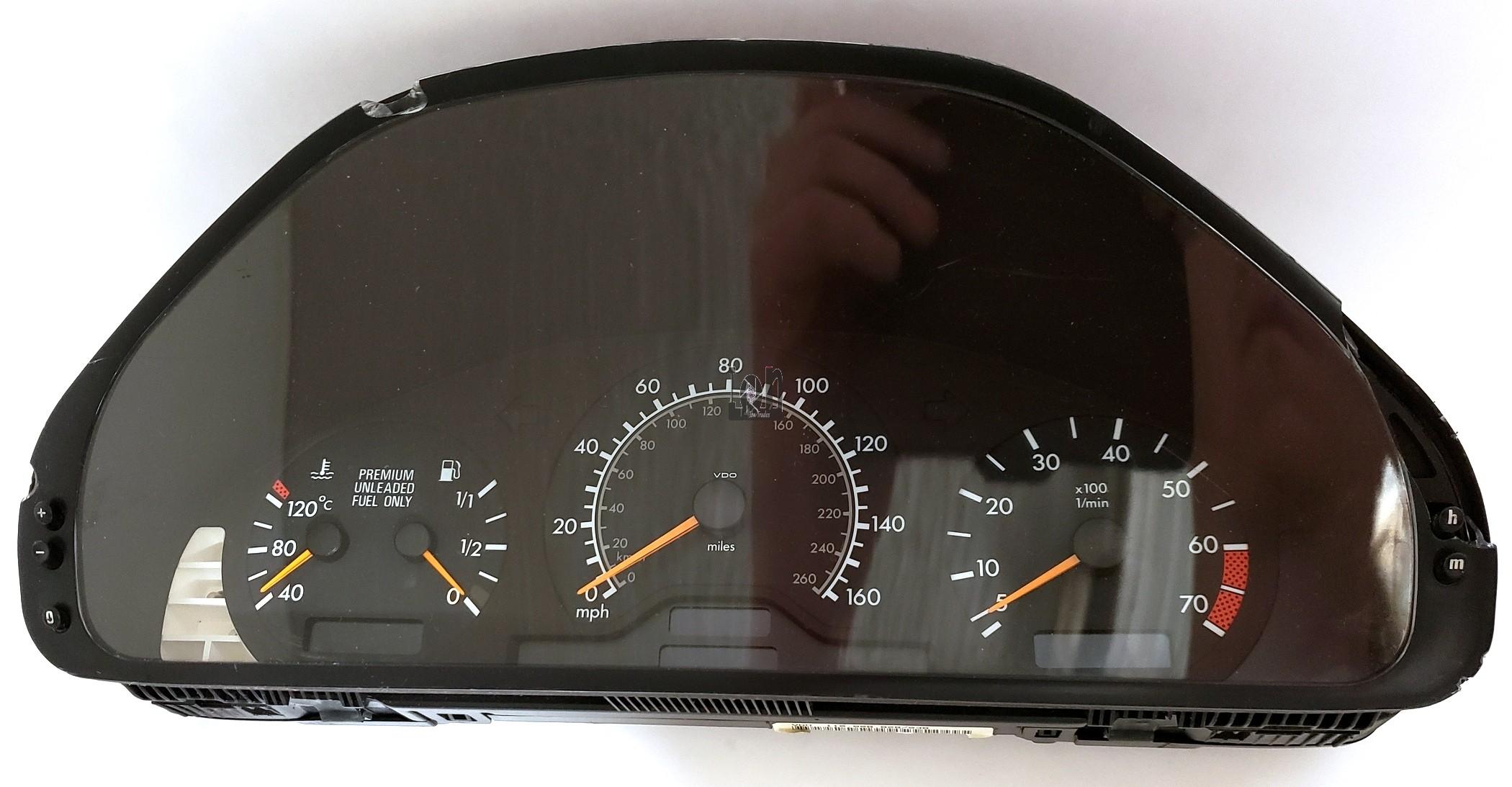 Instrument Cluster for Mercedes Benz C200 C180 OEM Parts 2025401748 MPH Kilo