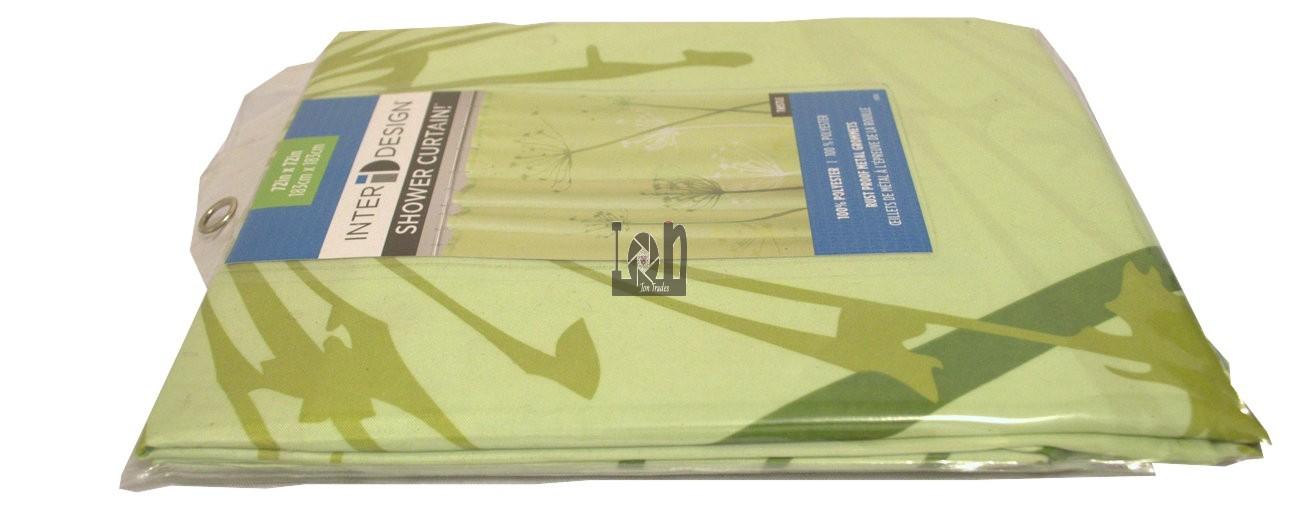 Interdesign Thistle Green Shower Curtain 72x72 Polyester
