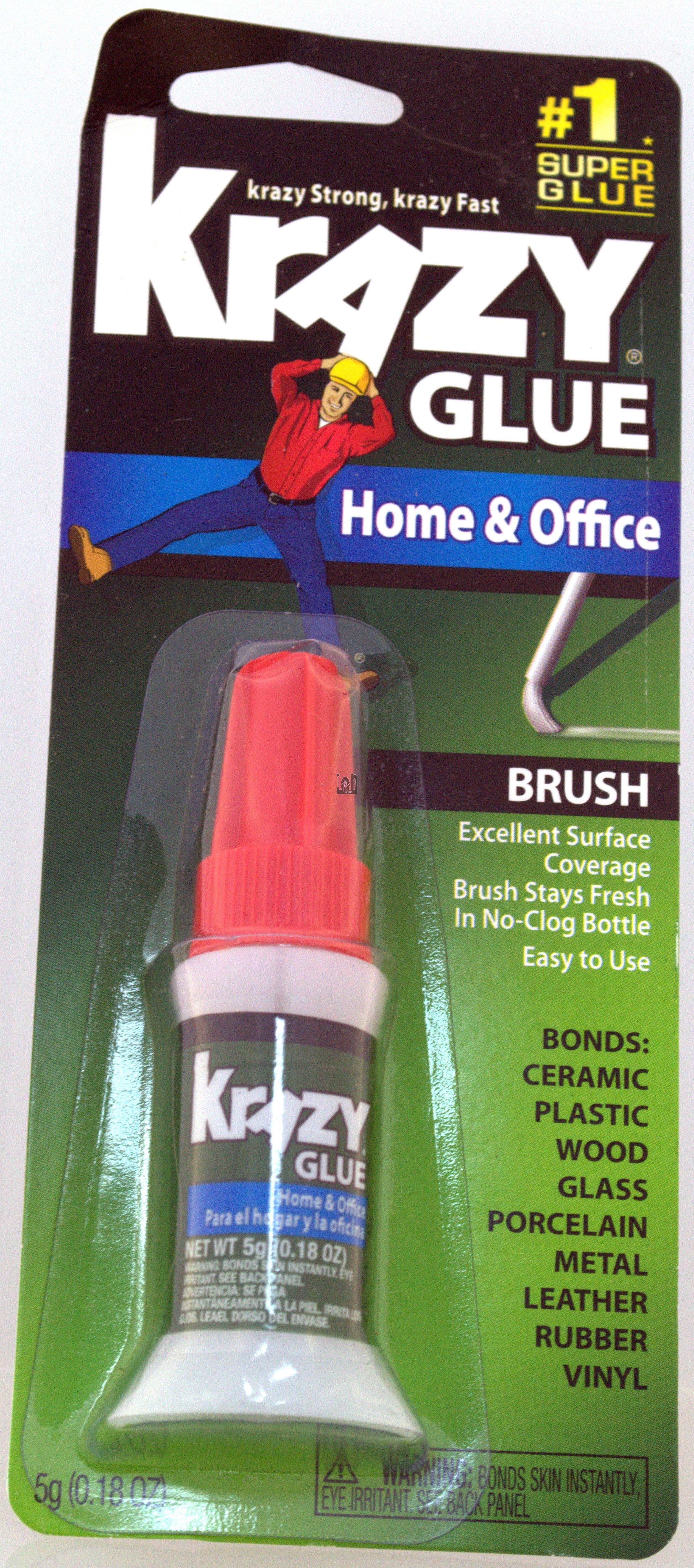 Krazy Glue 5g Brush Super Glue  0.18Oz Instant