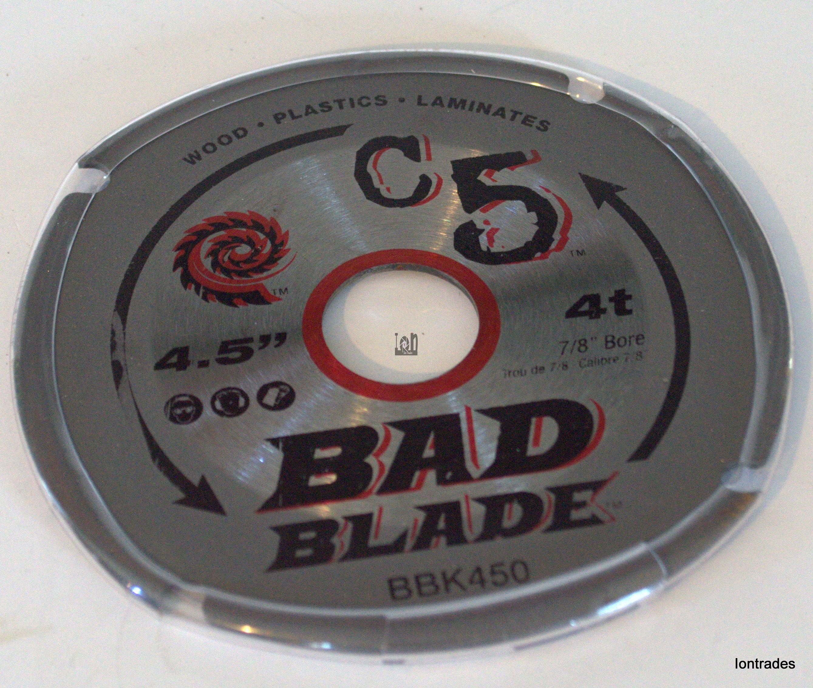 "Kwik Tool 4.5"" Circular Saw Blade BBK450 Bad Blade 7/8"" Arbor C5 4Tooth"