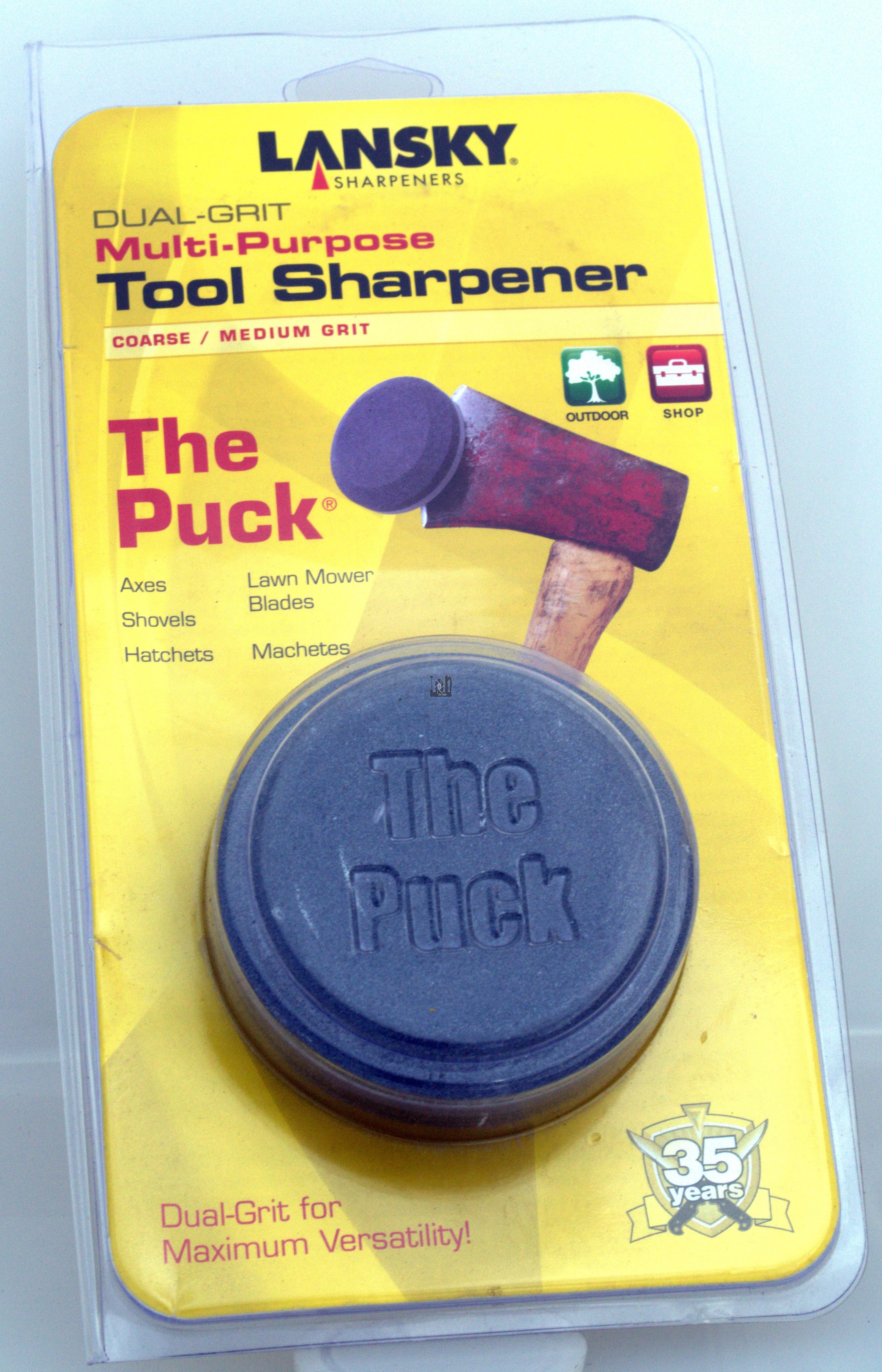 Lanksy The Puck Sharpener Dual Grit Sharpening Stone