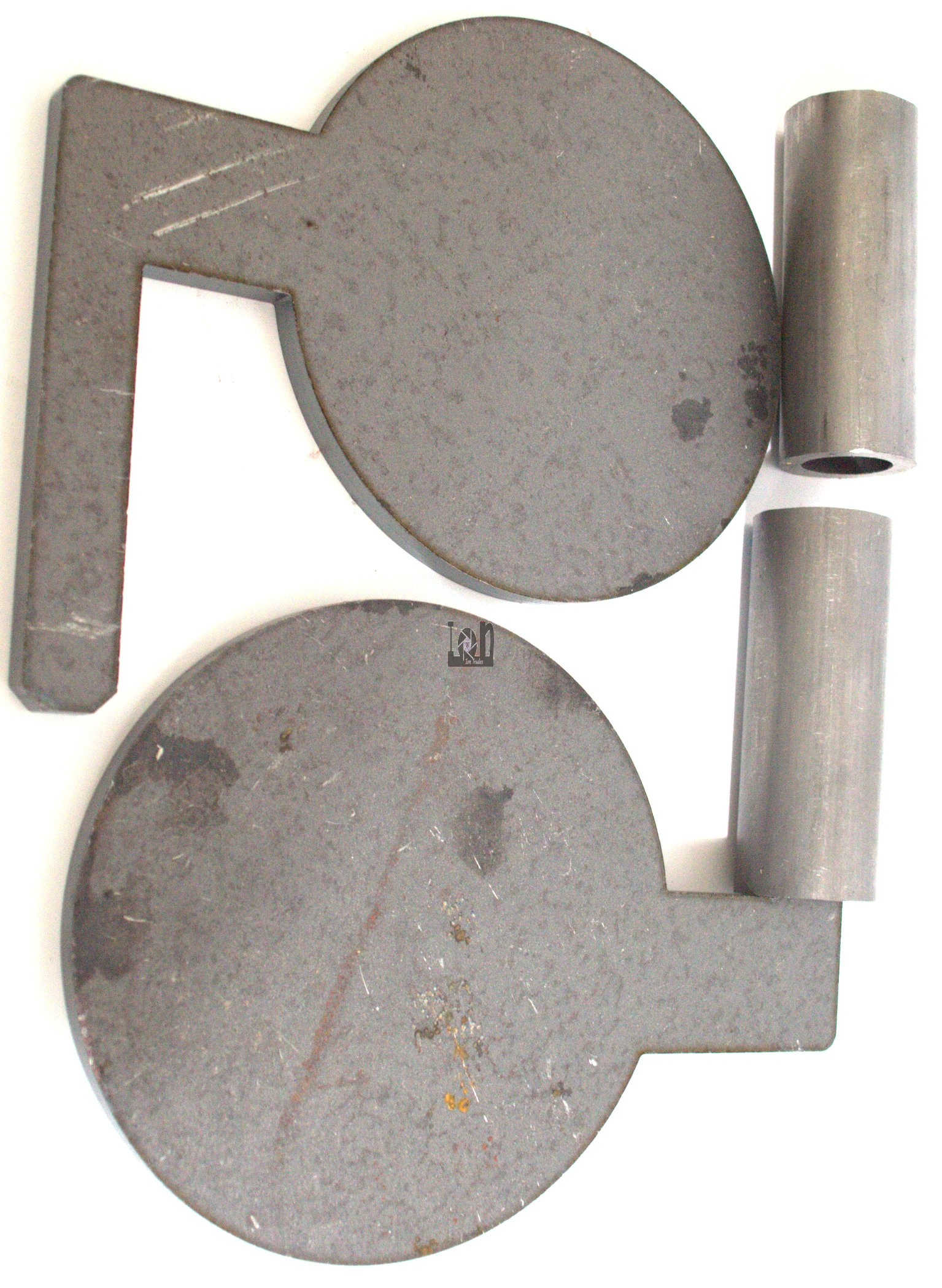"Lot  6"" Steel Dueling Target Tree Targets and Tubes 3/8"" Paddles DIY"