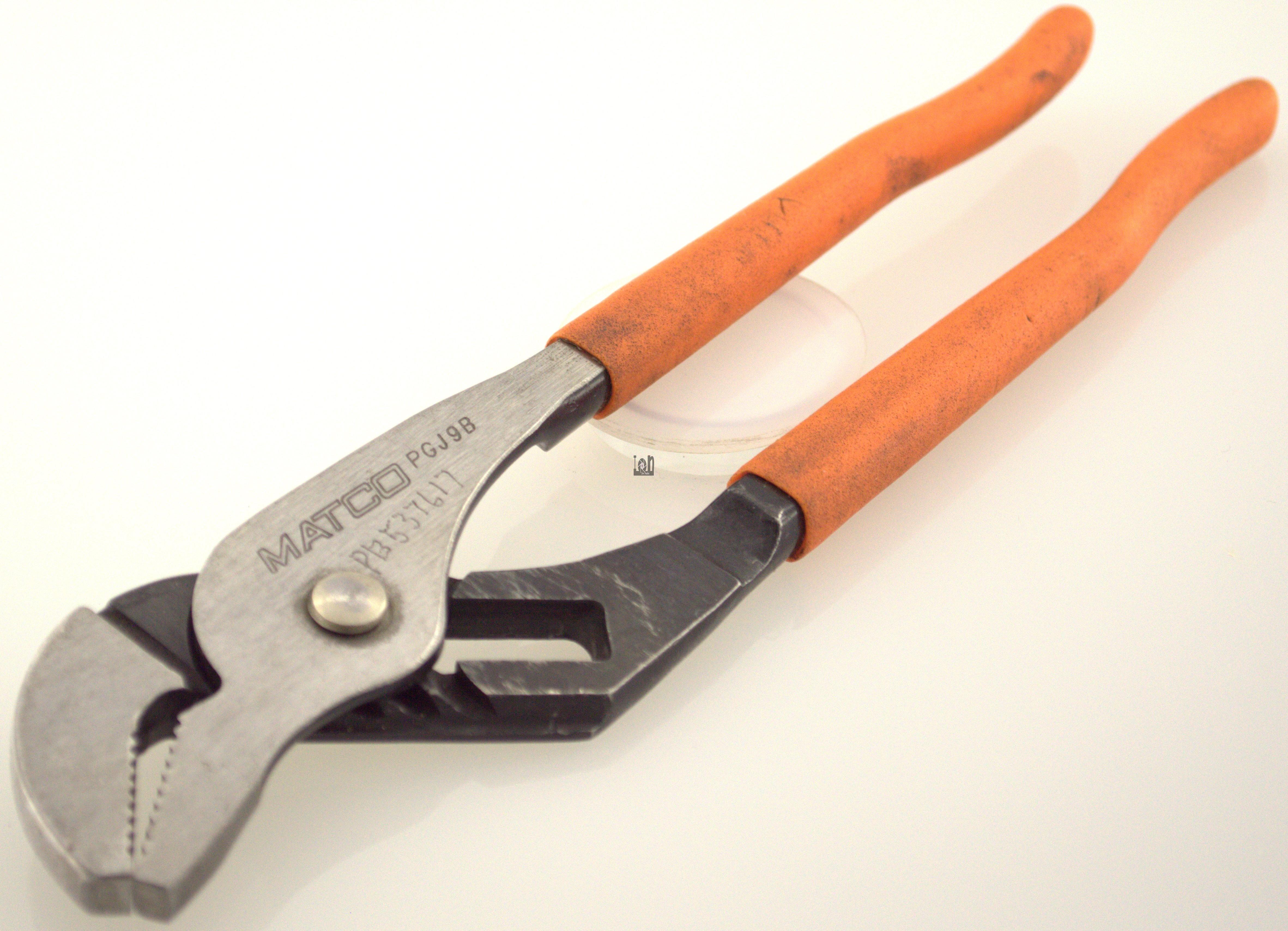 "MATCO Tools PGJ9B Slip Joint Pliers Orange 9-1/2"""