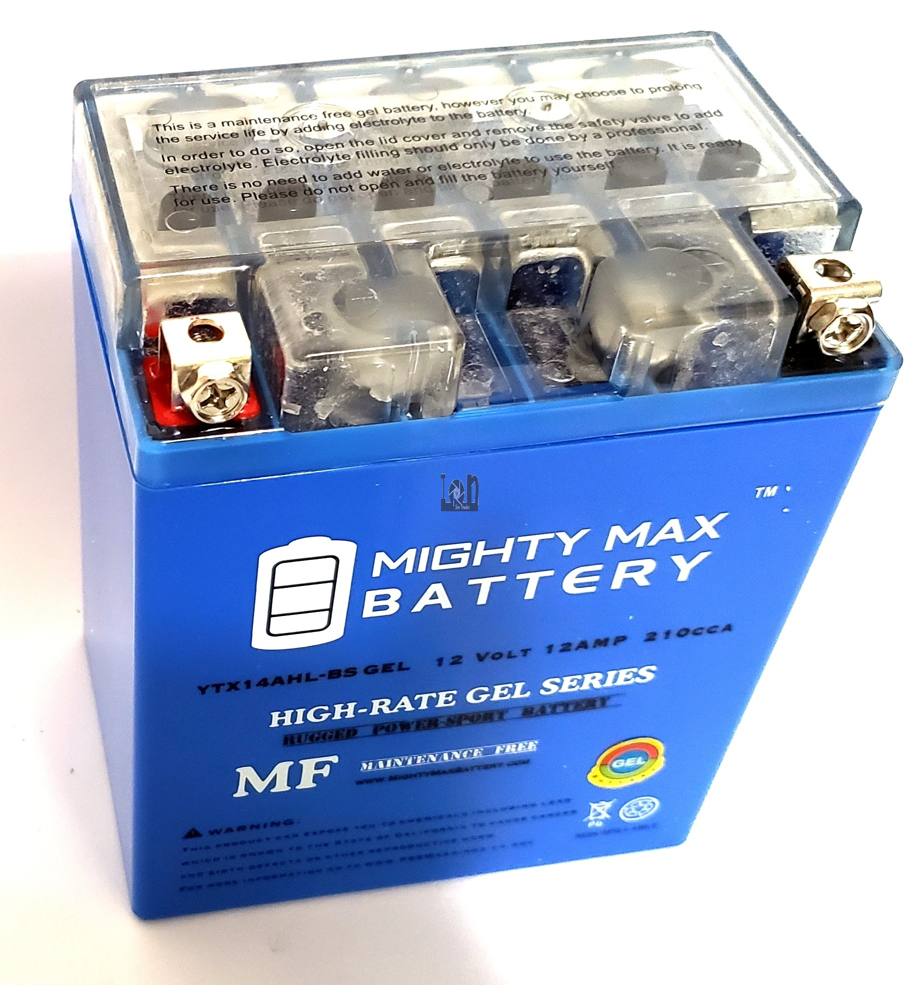 Mighty Max YTX14AH-BS GEL Battery 12V 12AH