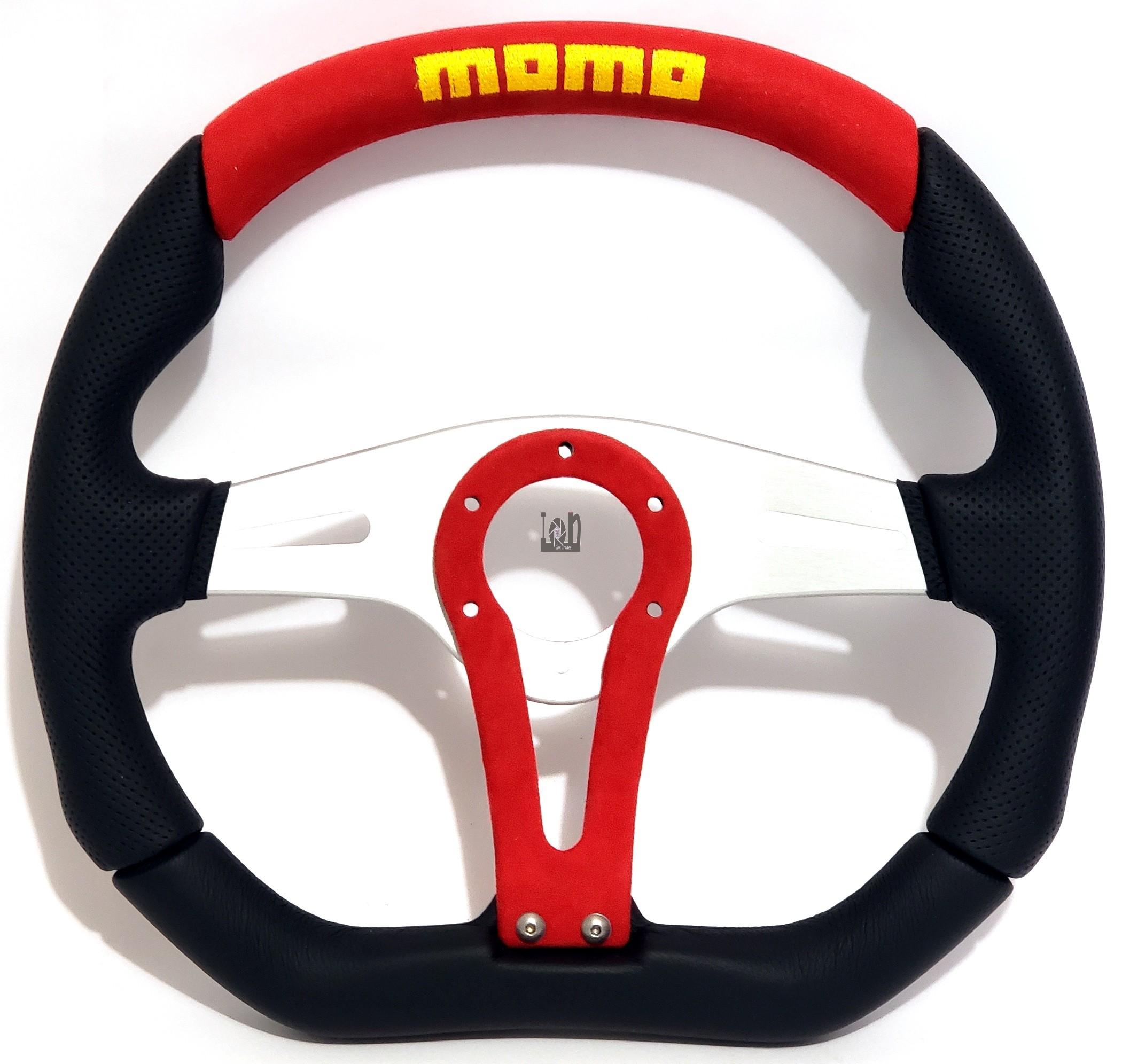 Momo Racing Steering Wheel 350mm RED Trek Leather from Italy