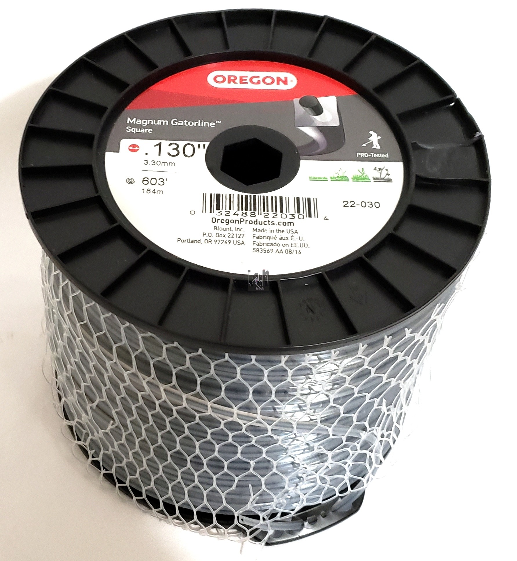 "Oregon String Trimmer Line 600ft Spool  22-030 Magnum Gatorline Square .130"" 5 Lb"