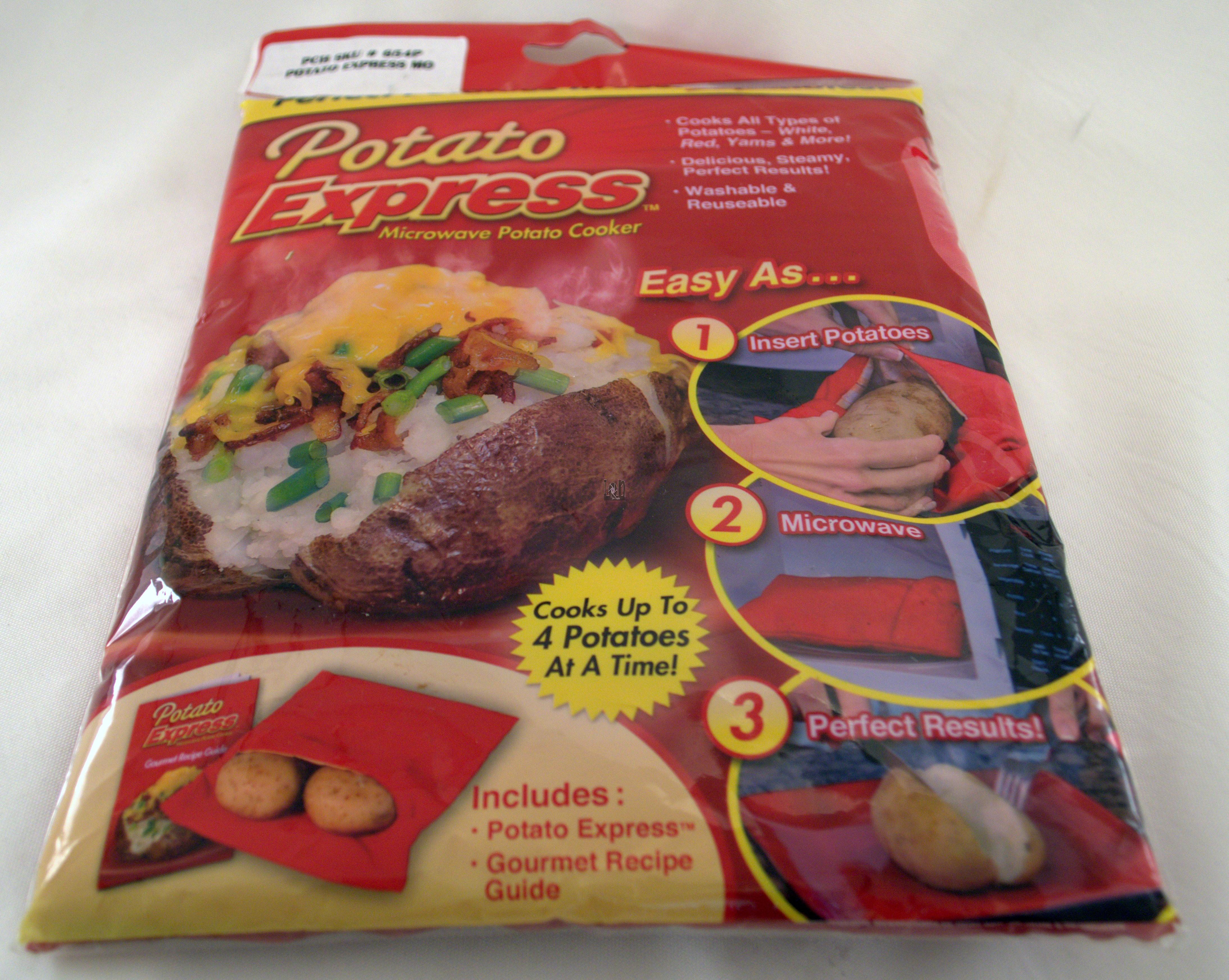Potato Express Microwave Potato Cooker Baked