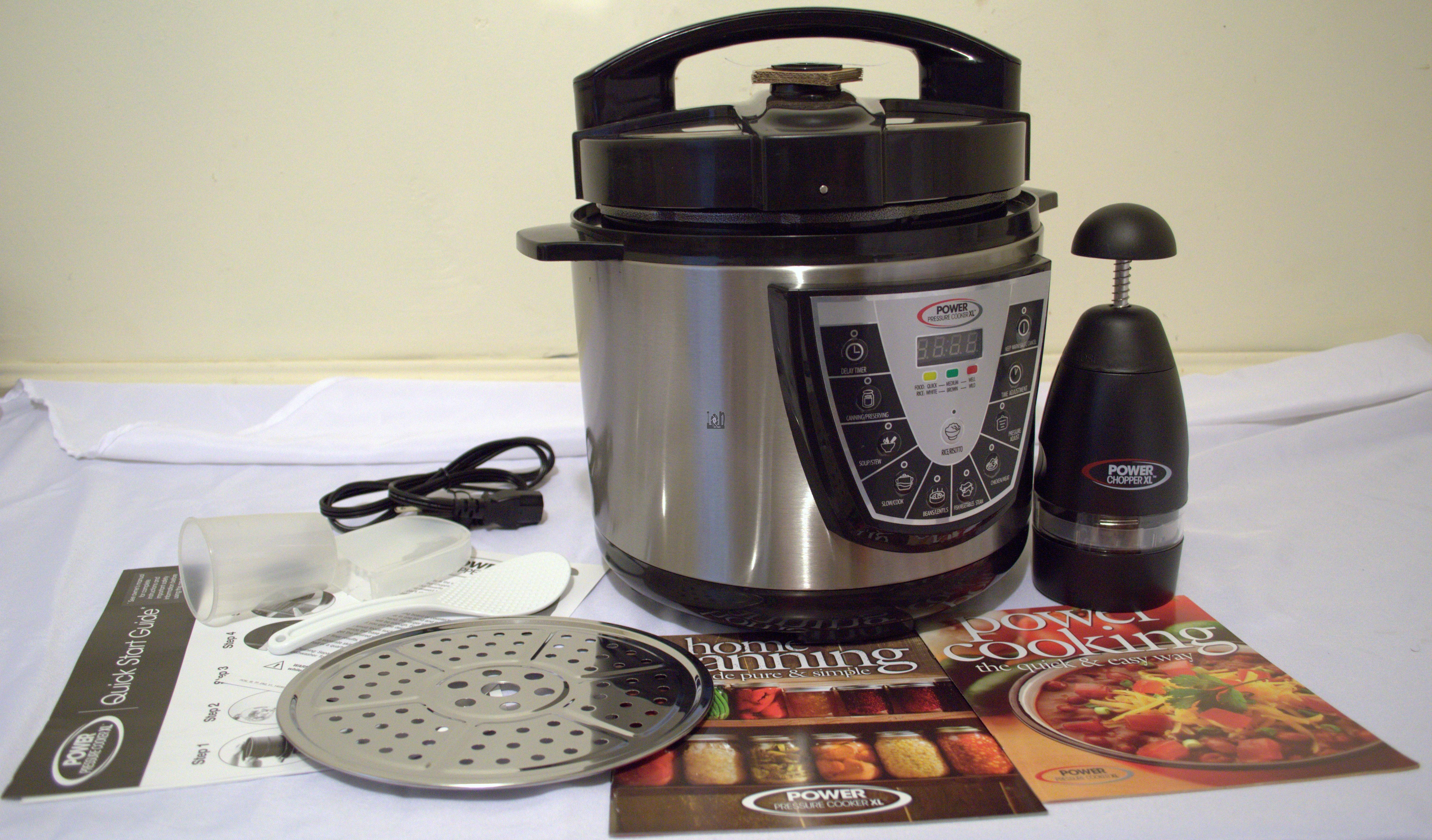 Power Cooker XL 6qt Pressure Cooker Combo w/ Chopper