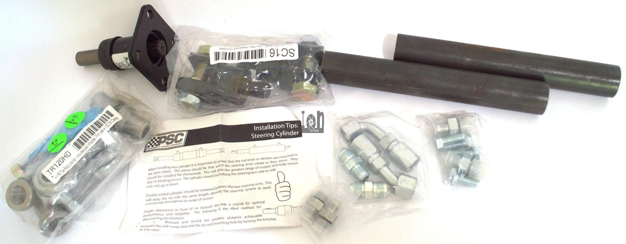 """PSC Double Tie Rod Kit for 2.5"""" Trail Series Hydraulic Steering Kit"""