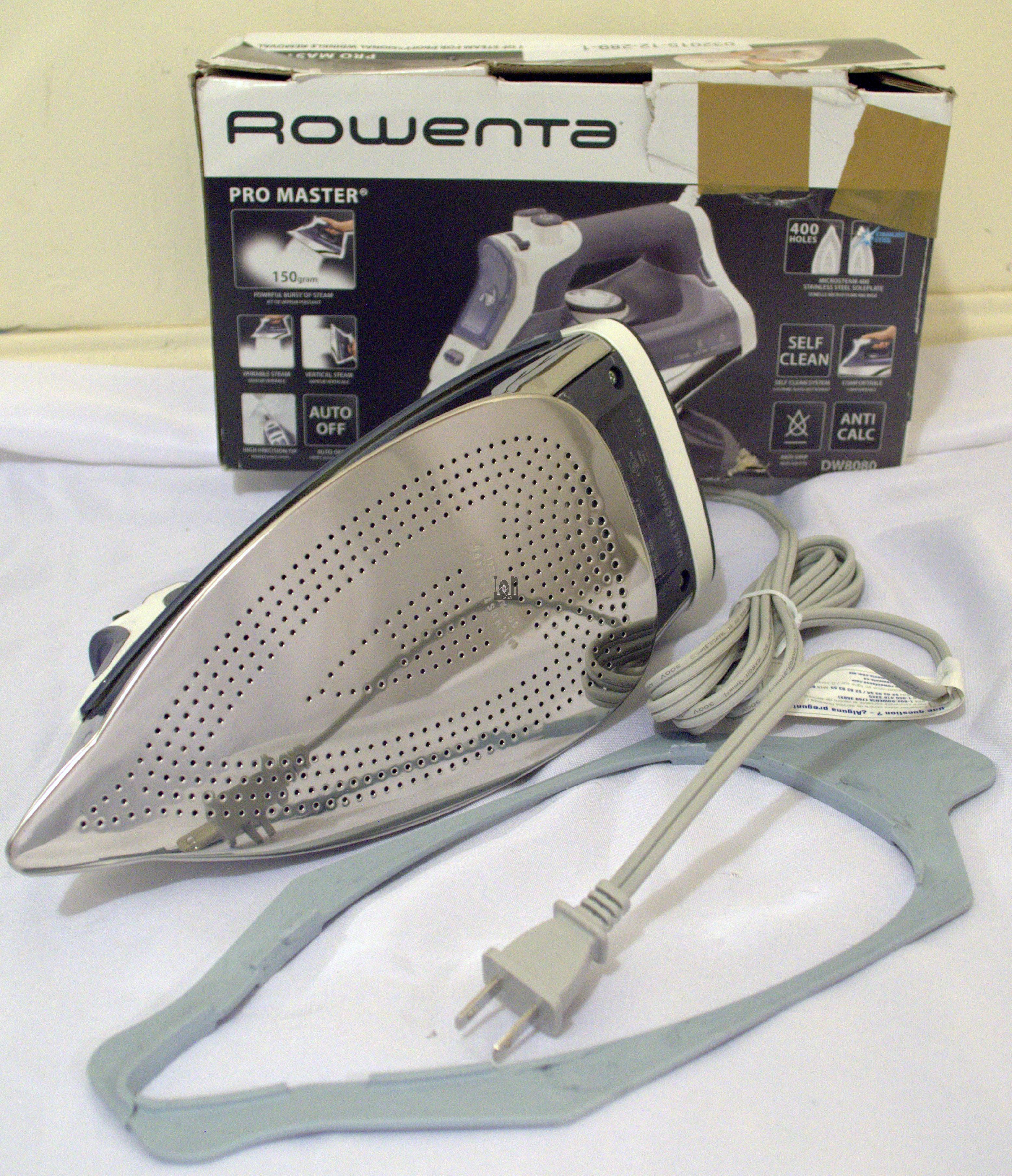Rowenta DW8080 Clothes Iron Pro Master Steam Stainless